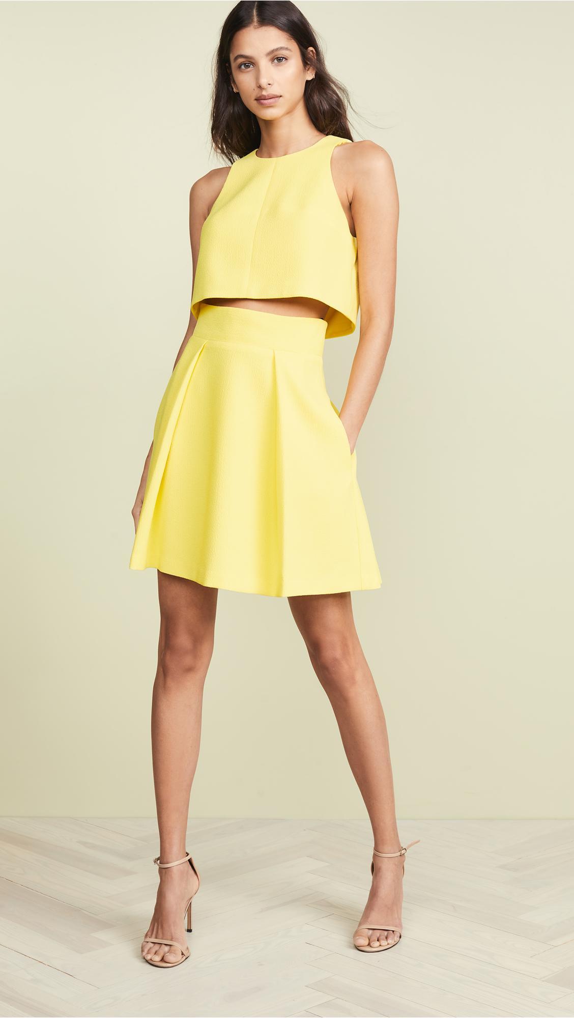 cb688f1c92d Lyst - Black Halo Sanibel Two Piece Dress in Yellow