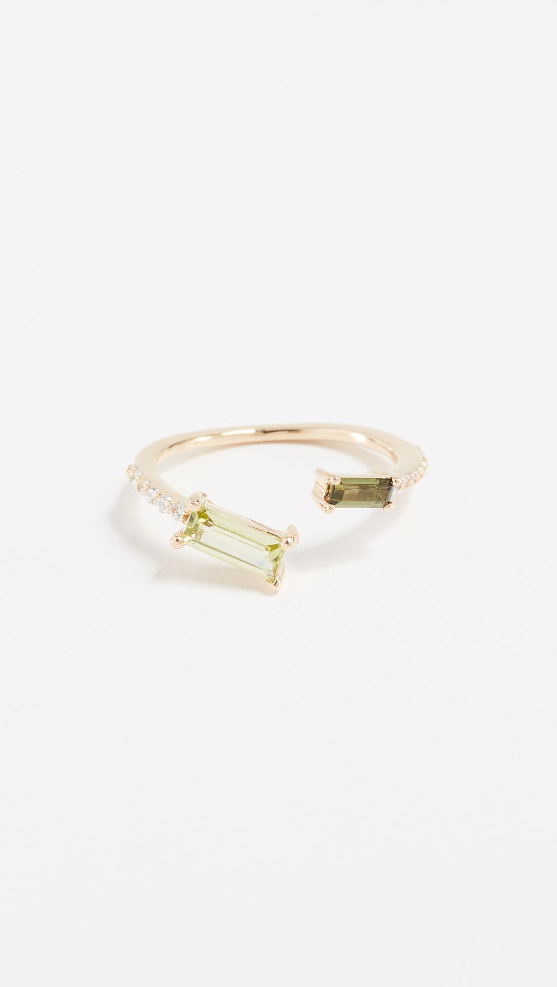Paige Novick Peridot & Tourmaline 18k Gold Ring 2bD1hd80CK