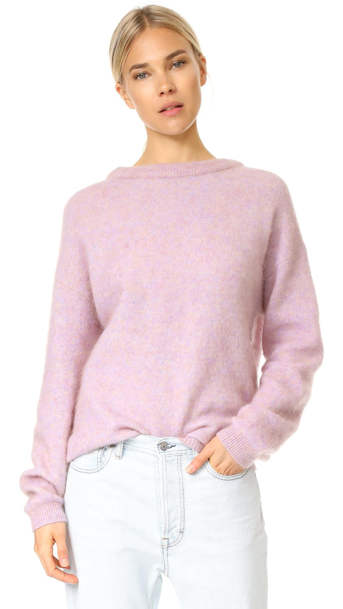 Dramatic Pink Eye Makeup: Acne Dramatic Mohair Sweater In Pink
