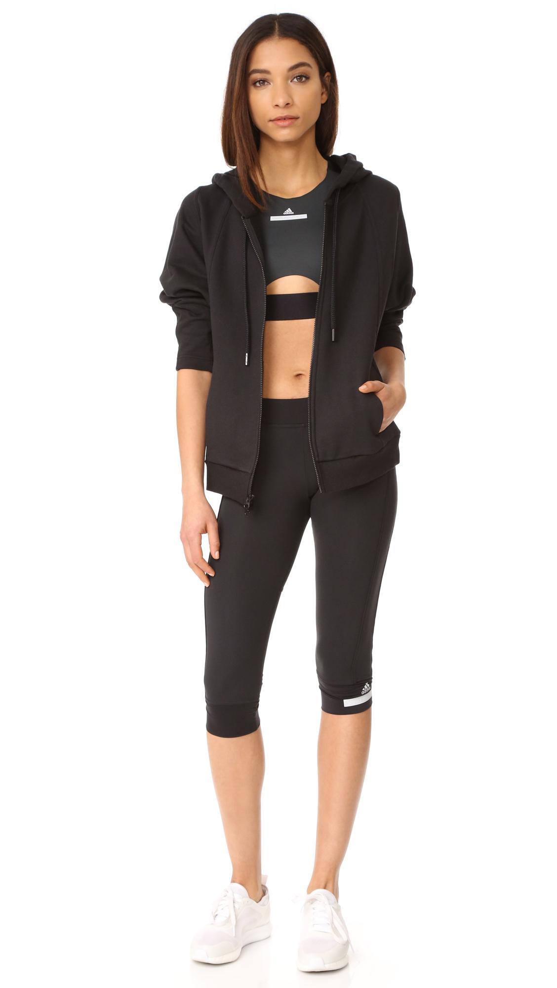 lyst adidas by stella mccartney run sports bra in black. Black Bedroom Furniture Sets. Home Design Ideas