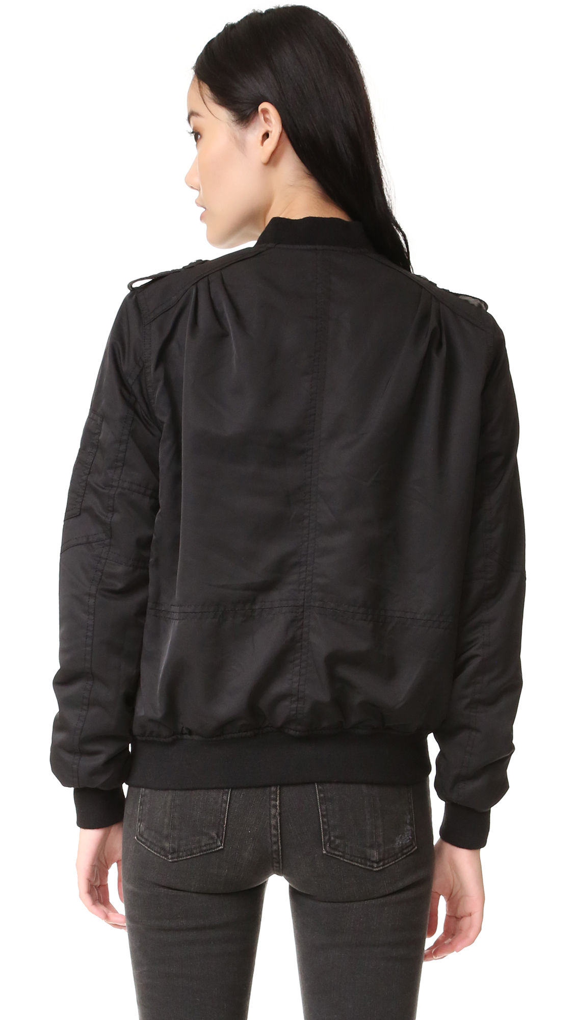 Lyst Blank Bomber Jacket In Black
