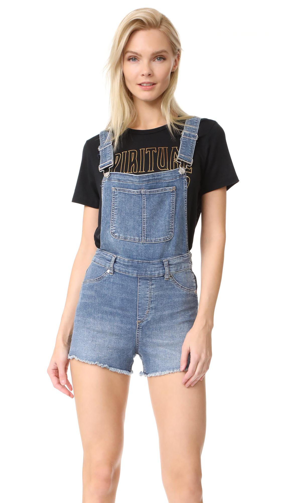Lyst - Cheap Monday Bib Spray Blue Noise Overalls in Blue