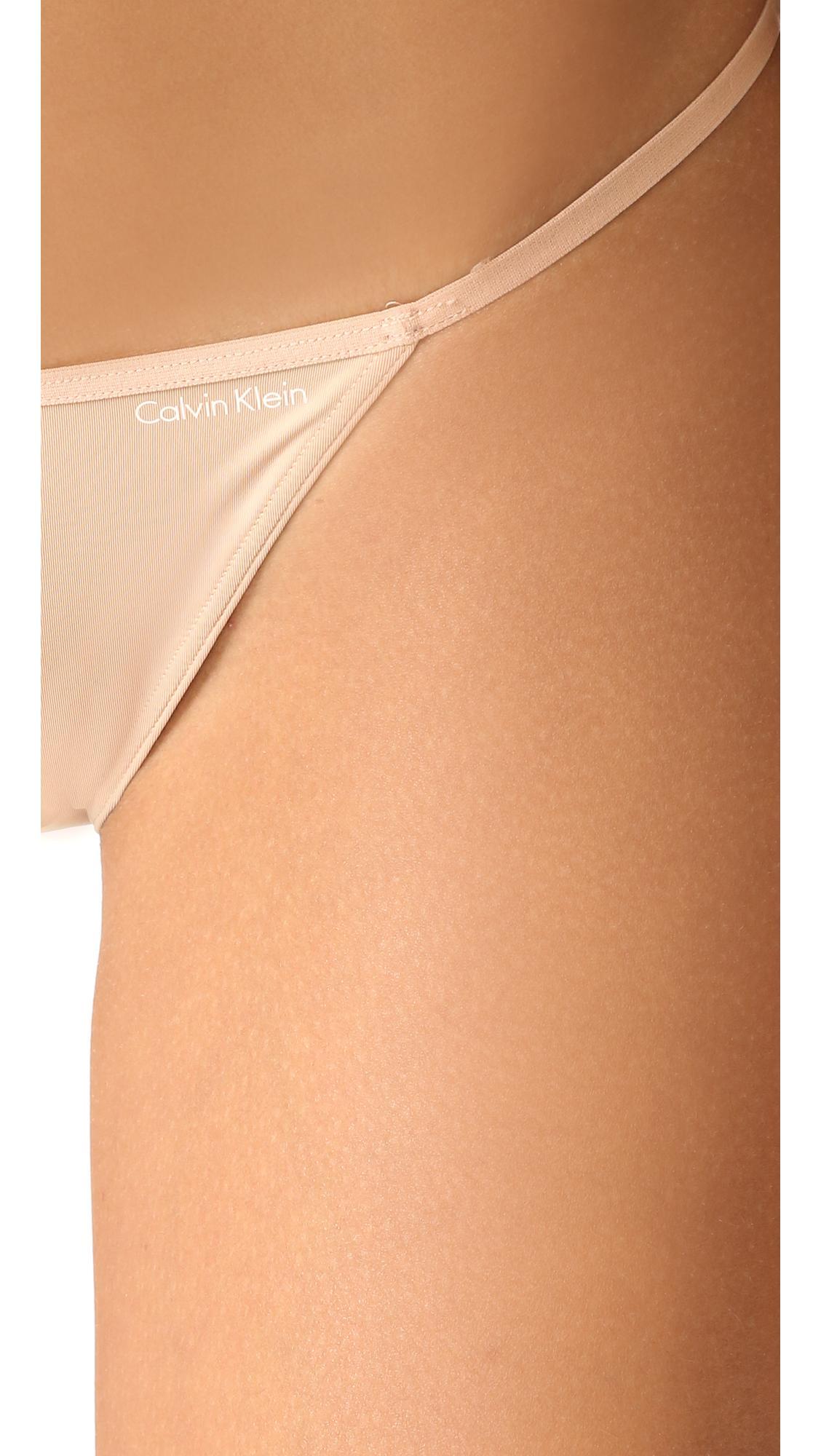 calvin klein sleek string bikini panties in multicolor lyst. Black Bedroom Furniture Sets. Home Design Ideas