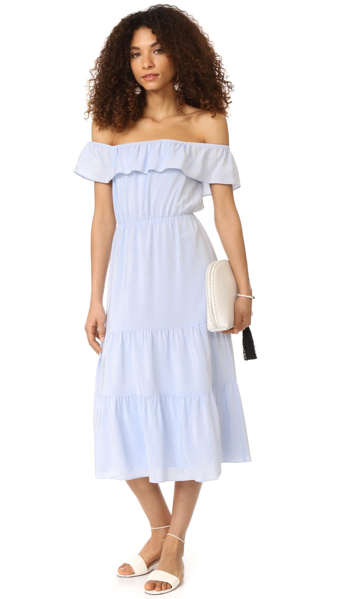 lyst  club monaco hamisi dress in blue