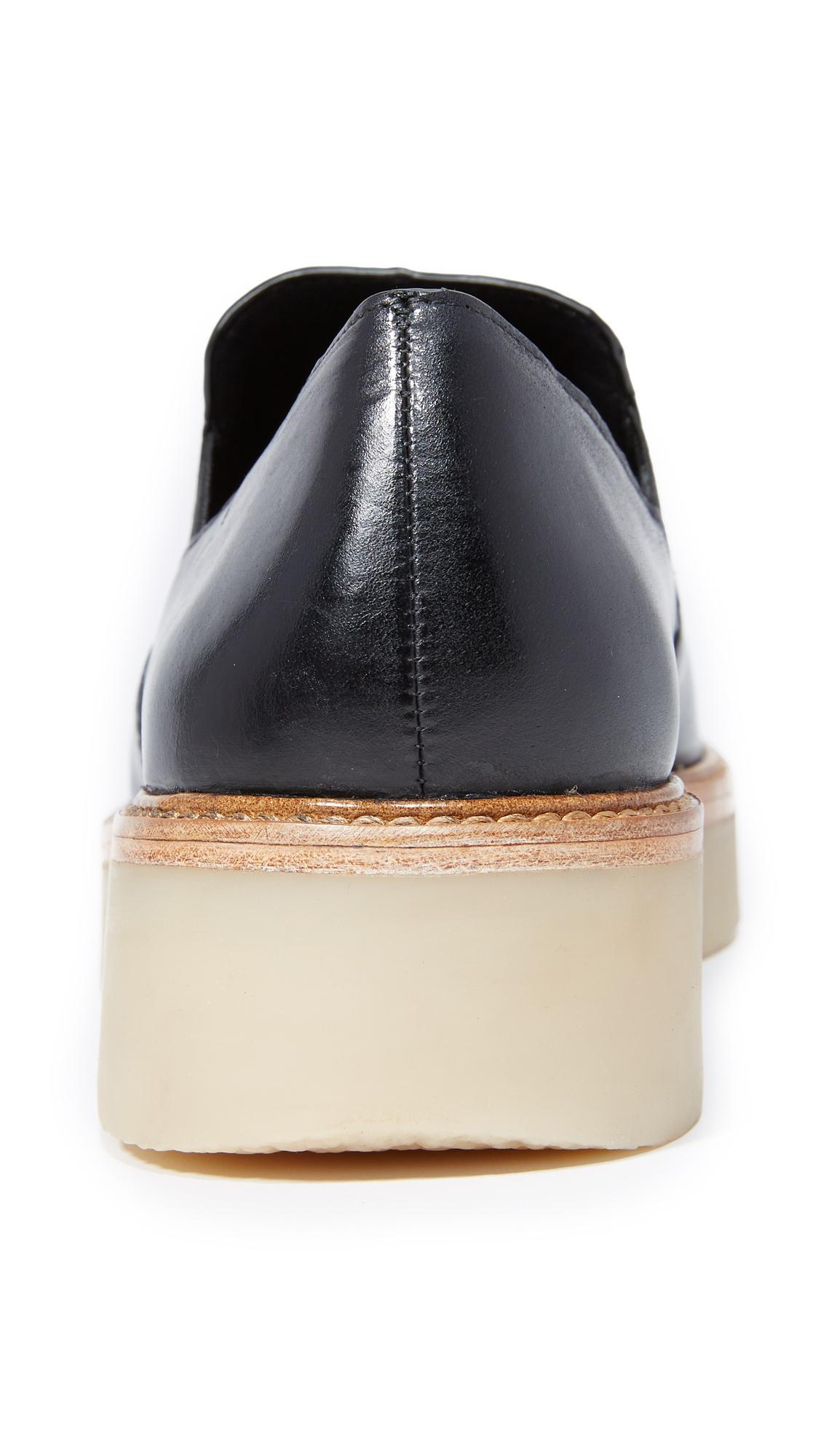 Lyst Dkny Kara Platform Loafers In Black