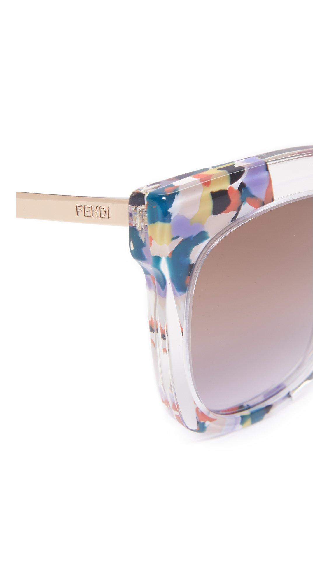 2da627d2290b8 Fendi Jungle Printed Sunglasses - Lyst