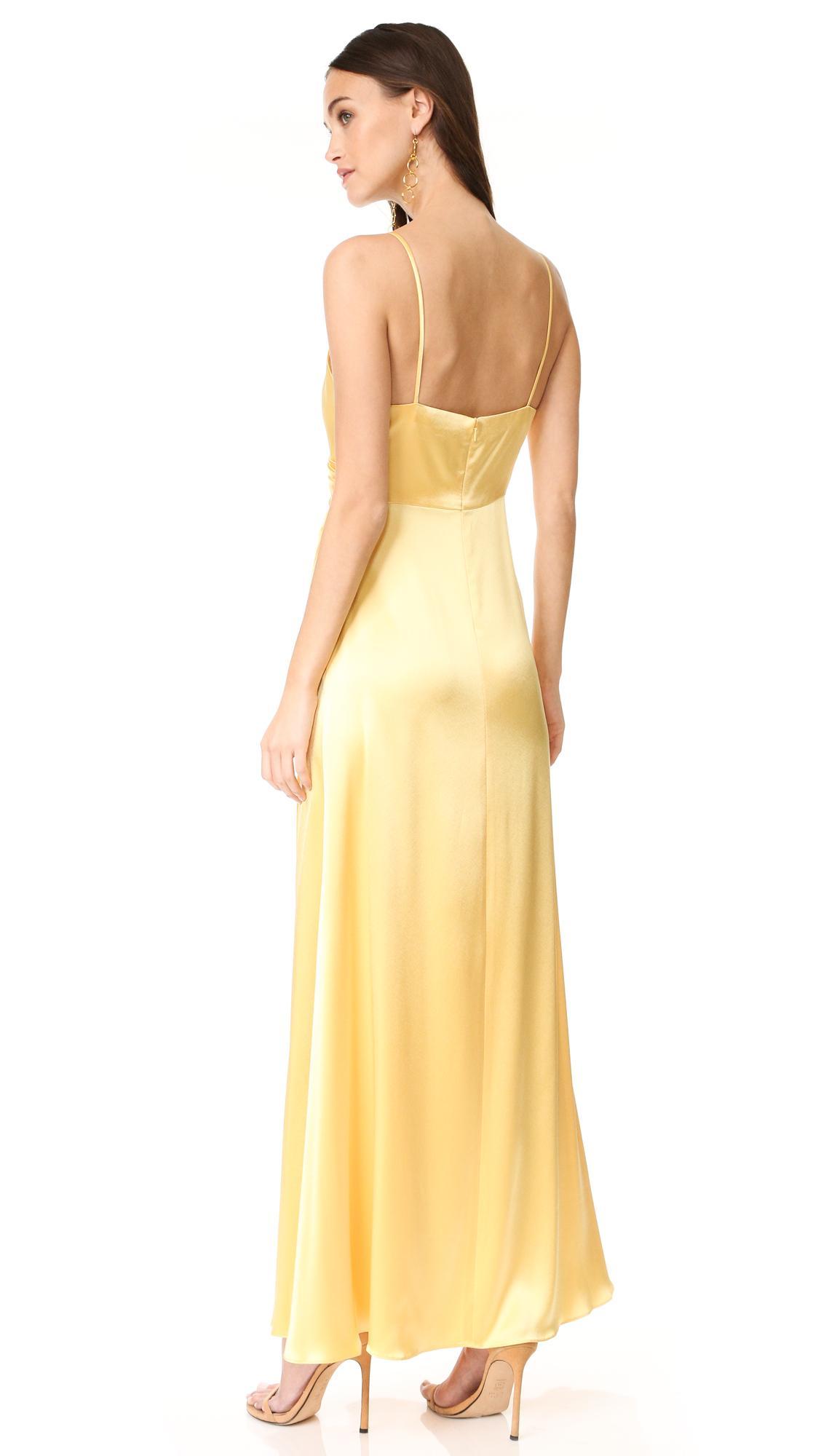 Lyst Jill Jill Stuart Satin Slip Gown In Yellow