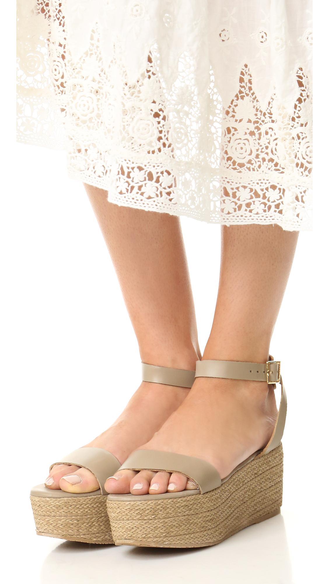 6716ec3177b Lyst - Kaanas Seshat Platform Espadrille Sandals in White
