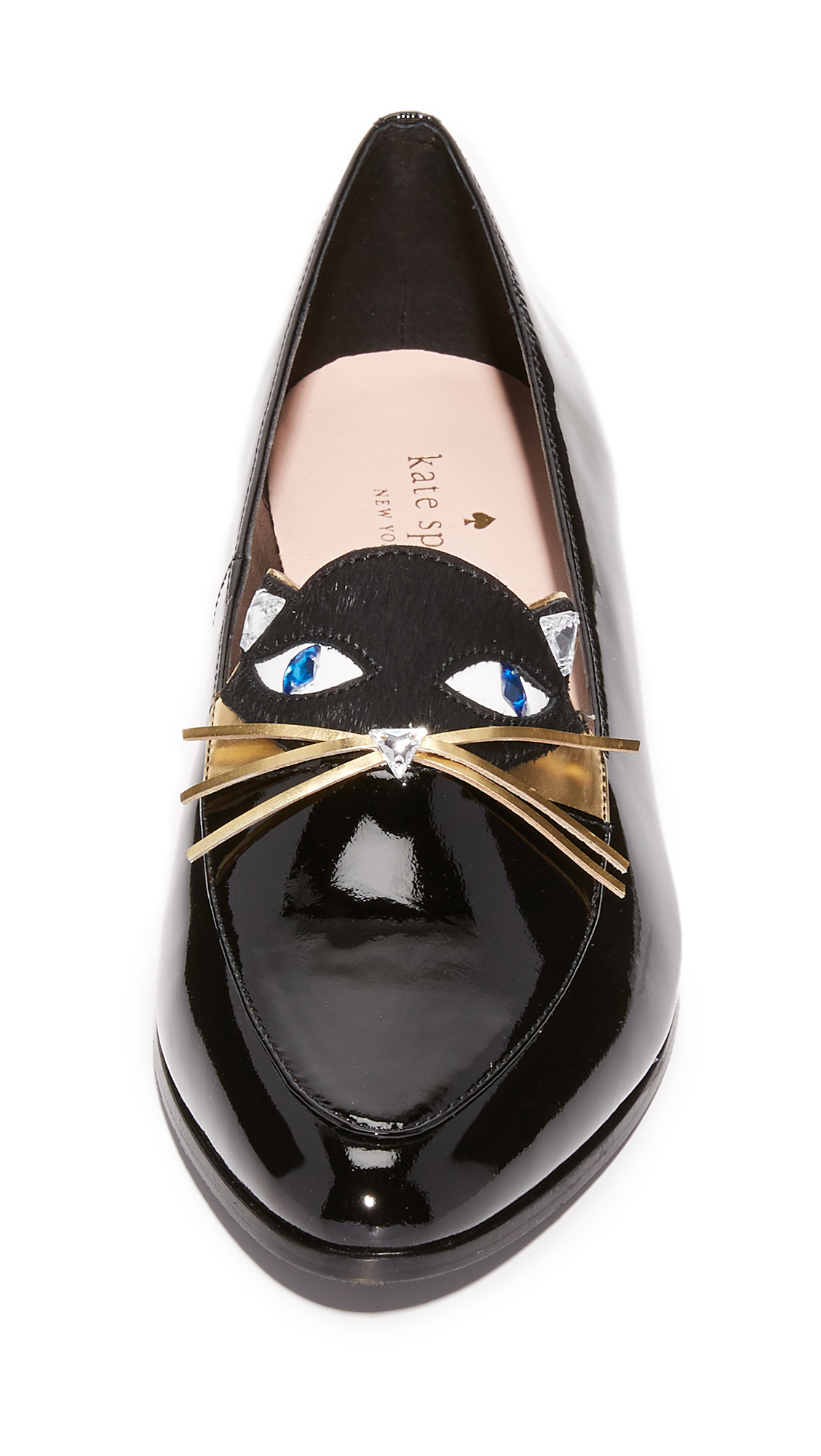 lyst kate spade new york cecilia cat loafers in black