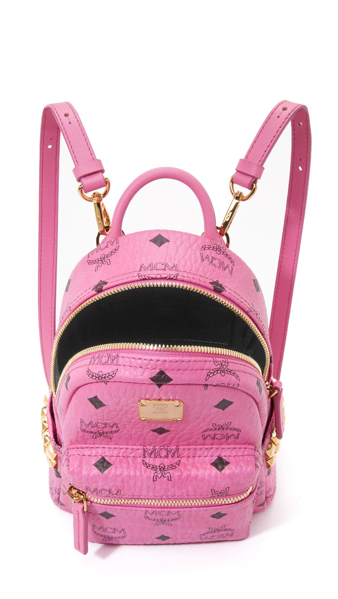 mcm side stud baby backpack in pink lyst. Black Bedroom Furniture Sets. Home Design Ideas