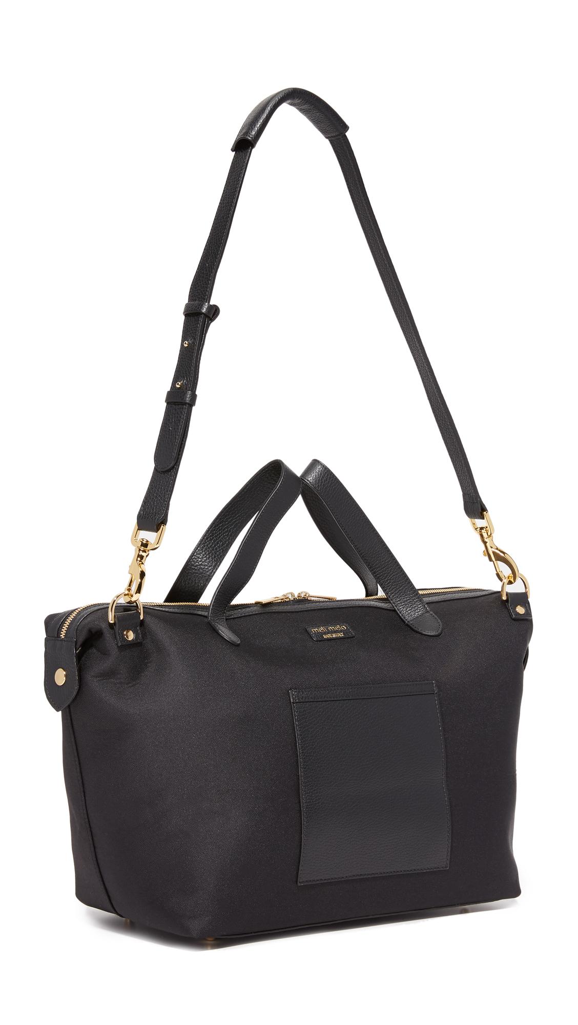 meli melo large thela weekender bag in black lyst. Black Bedroom Furniture Sets. Home Design Ideas