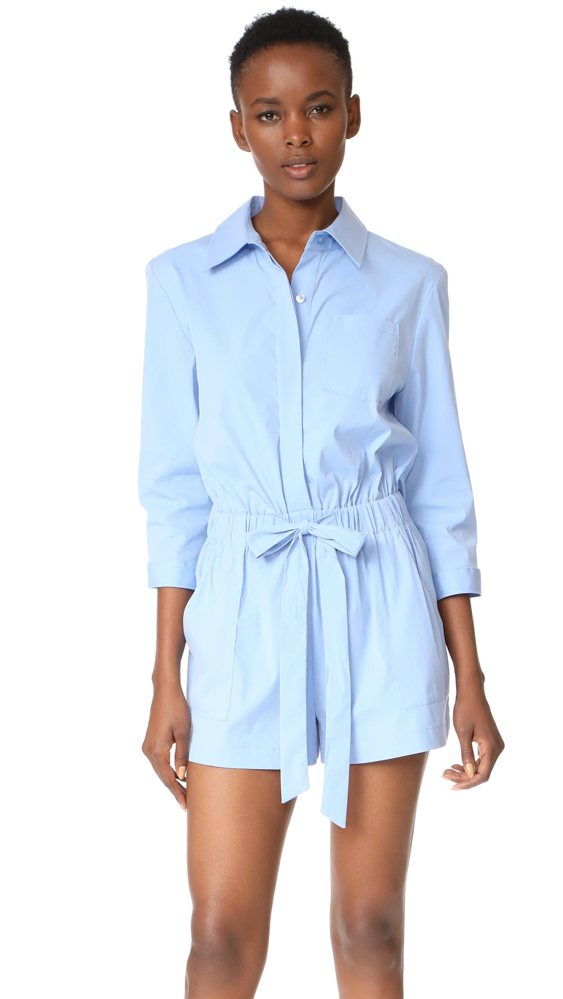 77f8d4e00074 Lyst - MILLY Charlie Romper in Blue