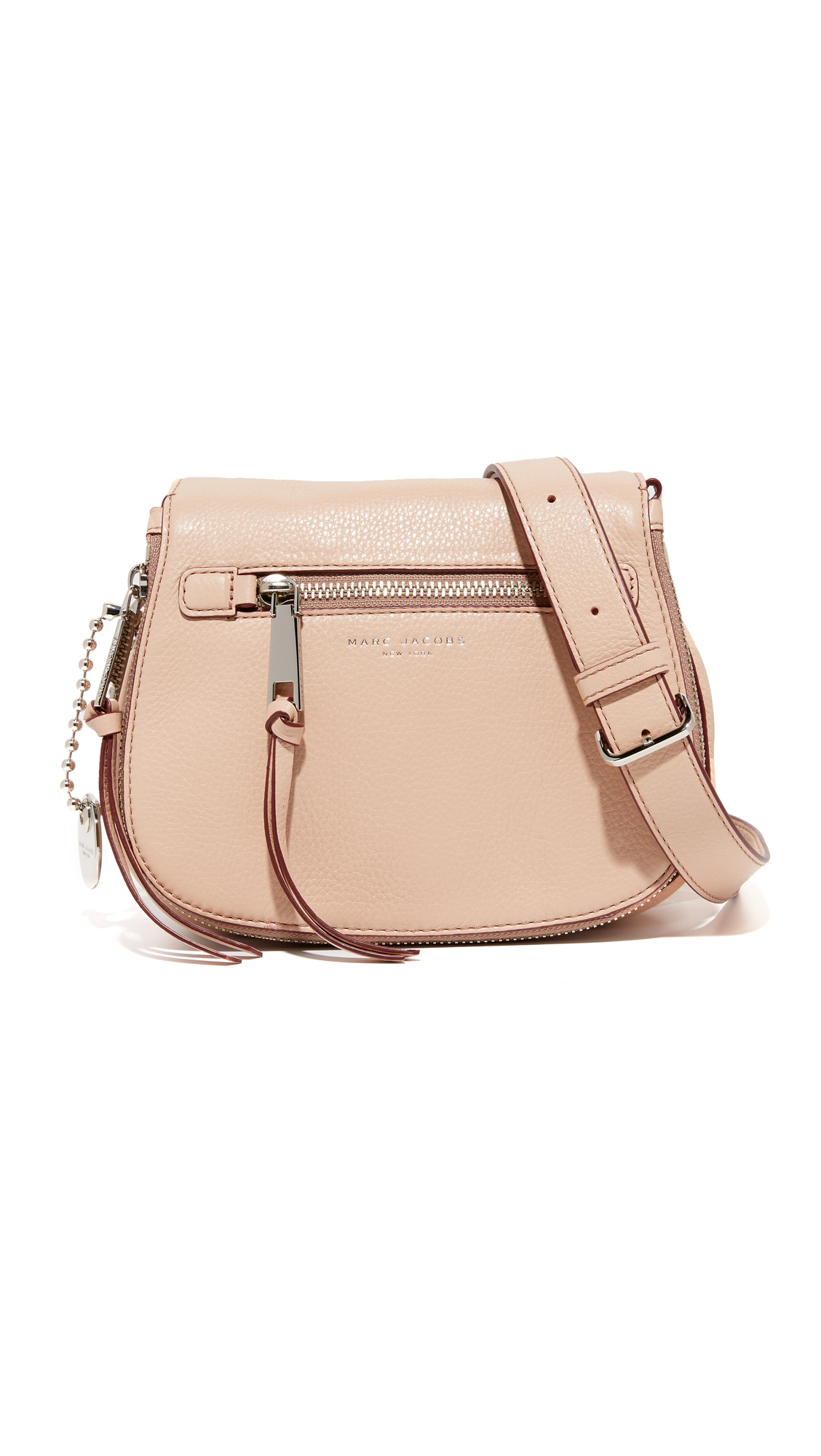 5e8df4d43bbd Lyst - Marc Jacobs Recruit Small Saddle Bag in Natural