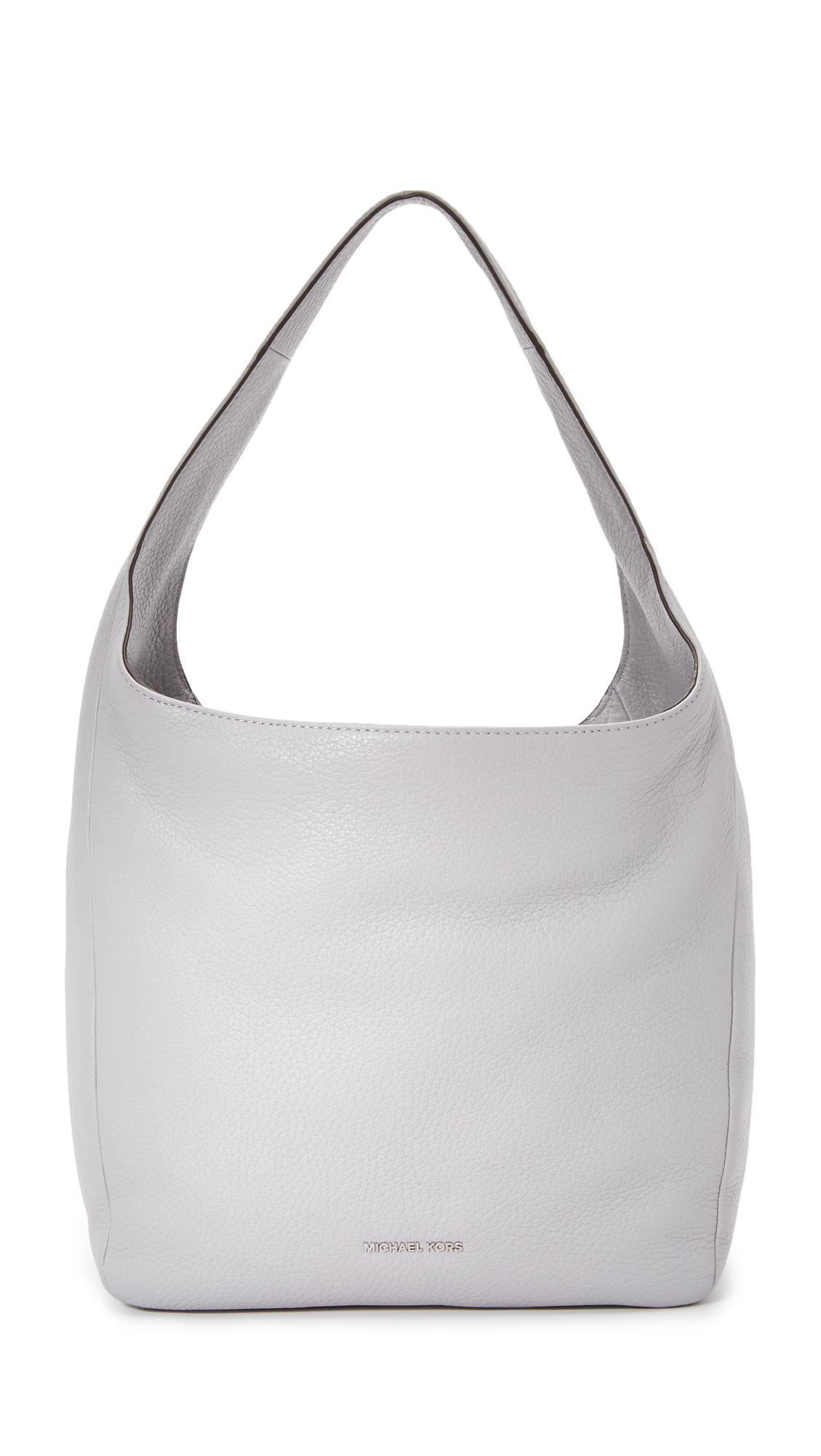 16791cf68fd5 Lyst - MICHAEL Michael Kors Lena Hobo Bag in Gray
