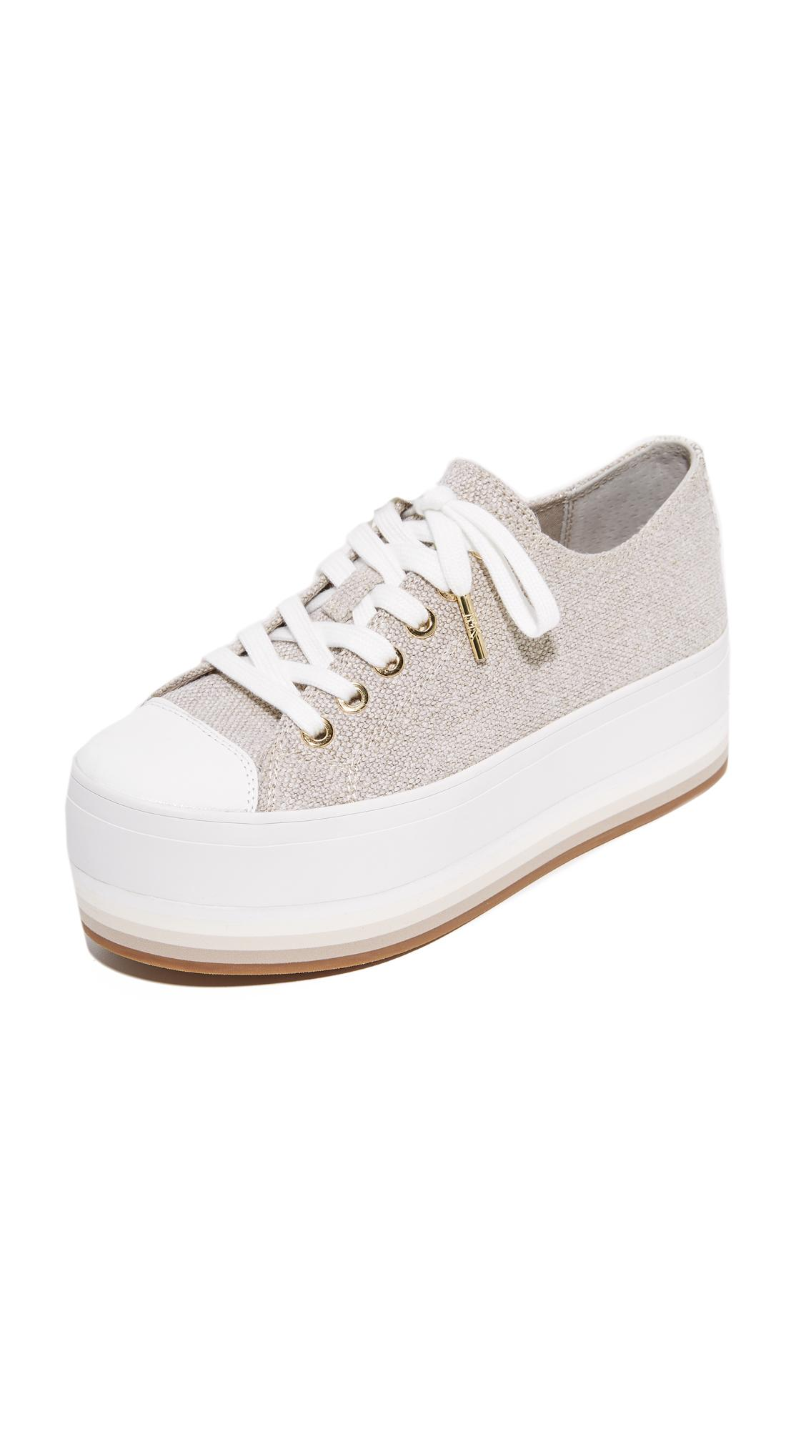 bb39e15a991b Lyst - MICHAEL Michael Kors Ronnie Platform Sneakers in Natural
