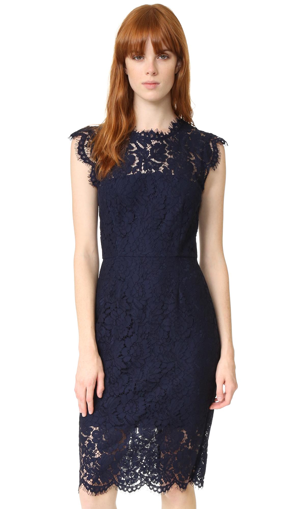 Navy Blue Lace Dress What Color Shoes