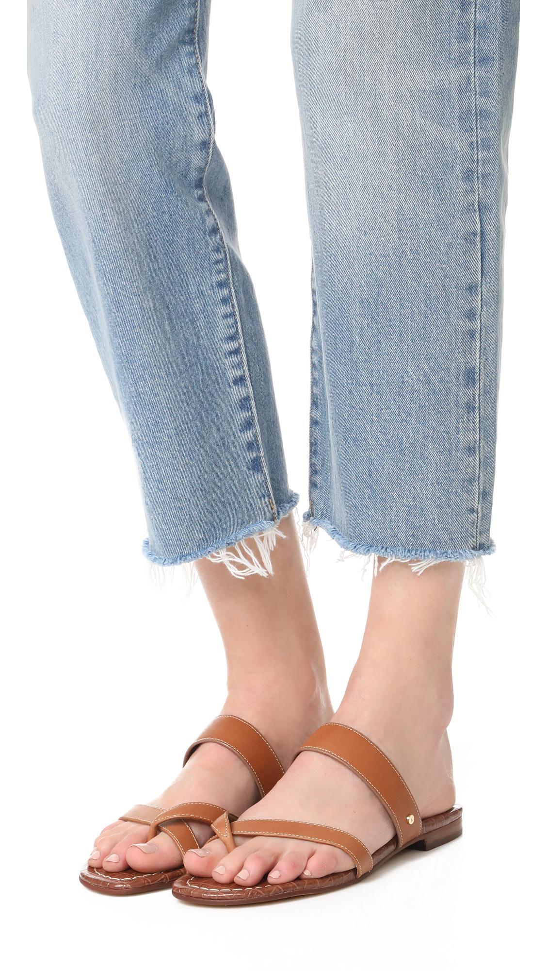 Lyst Sam Edelman Bernice Slide Sandal In Brown