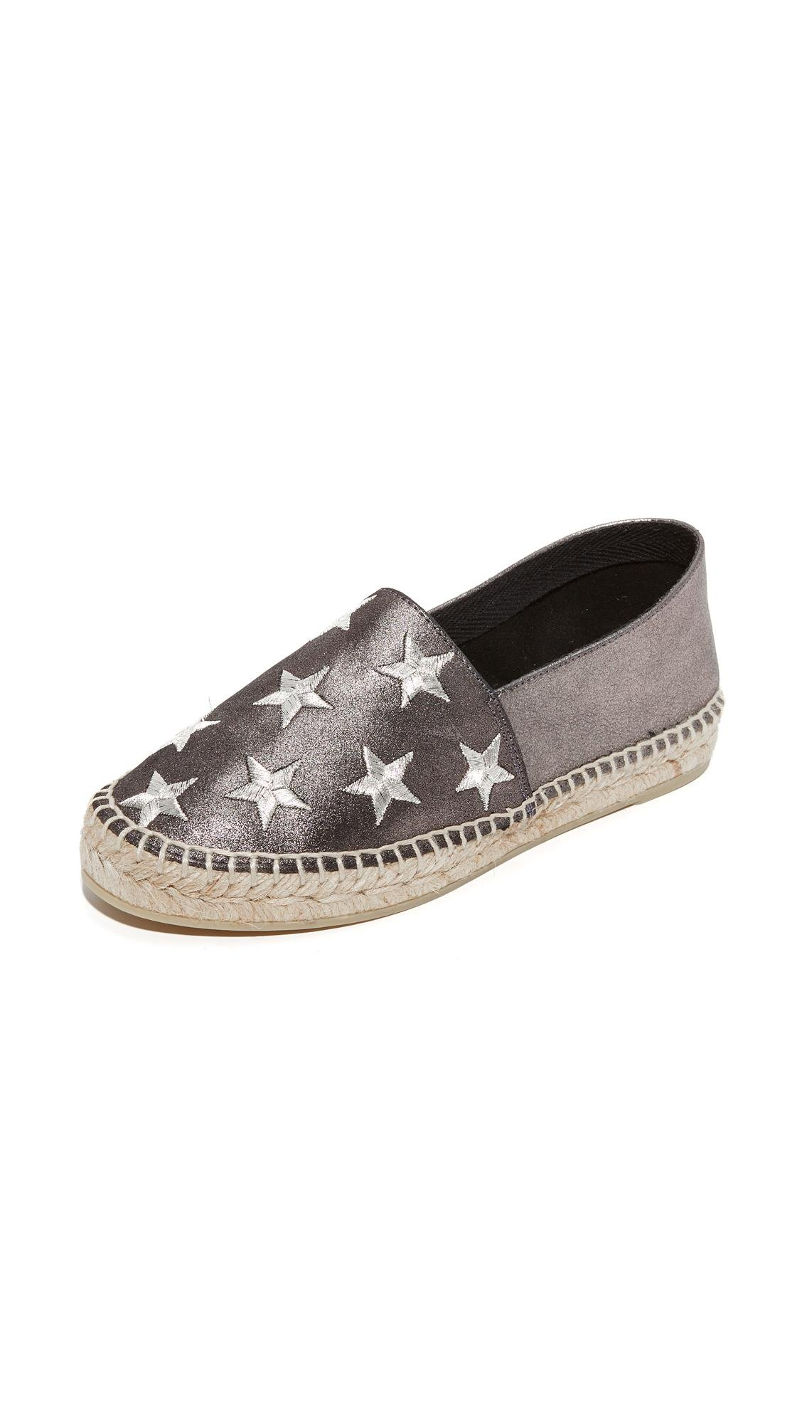 South Parade Star Embroidered Leather Espadrilles In