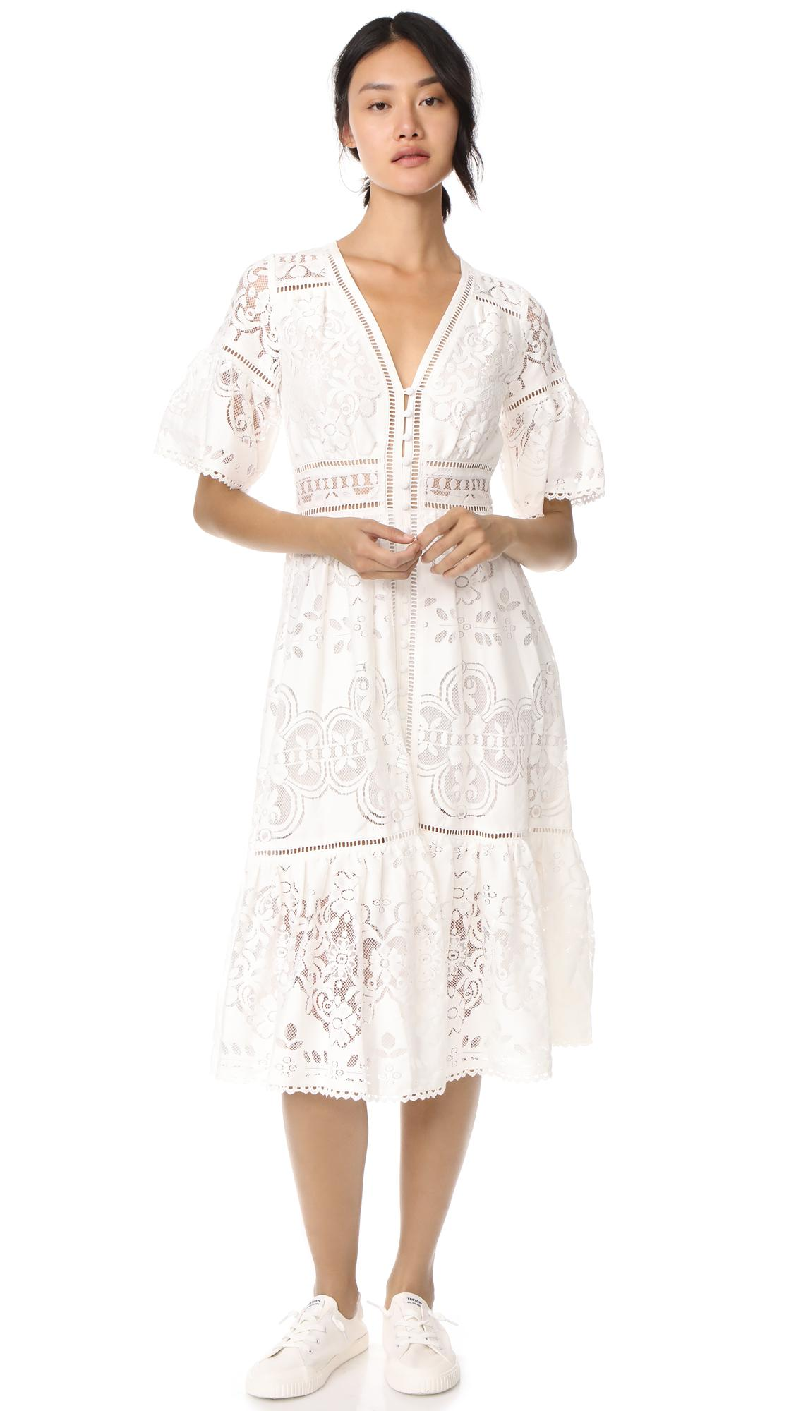 Lyst - Spell Clover Lace Gown in White