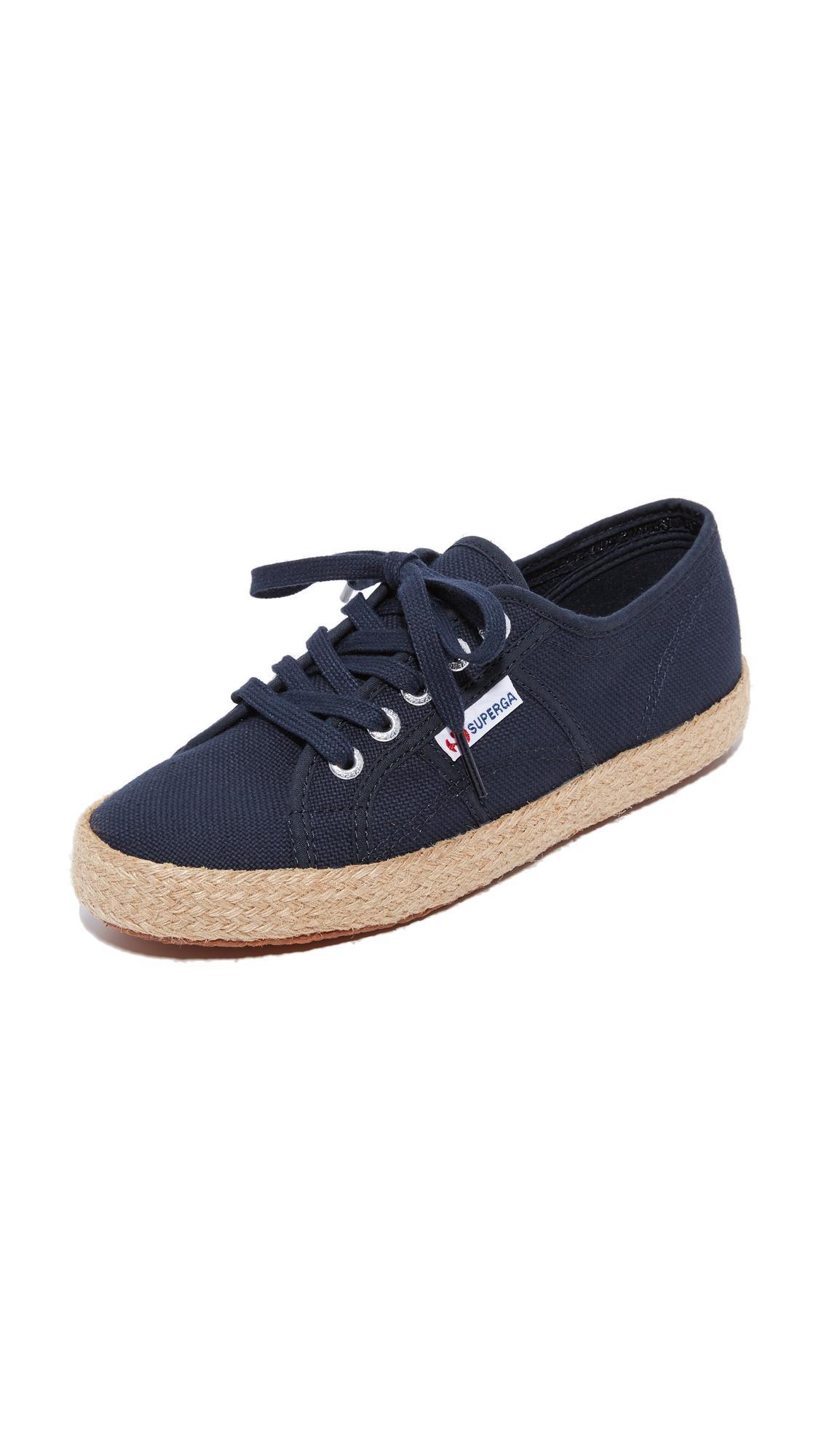 Superga: Superga 2750 Cotu Espadrille Sneakers In Blue