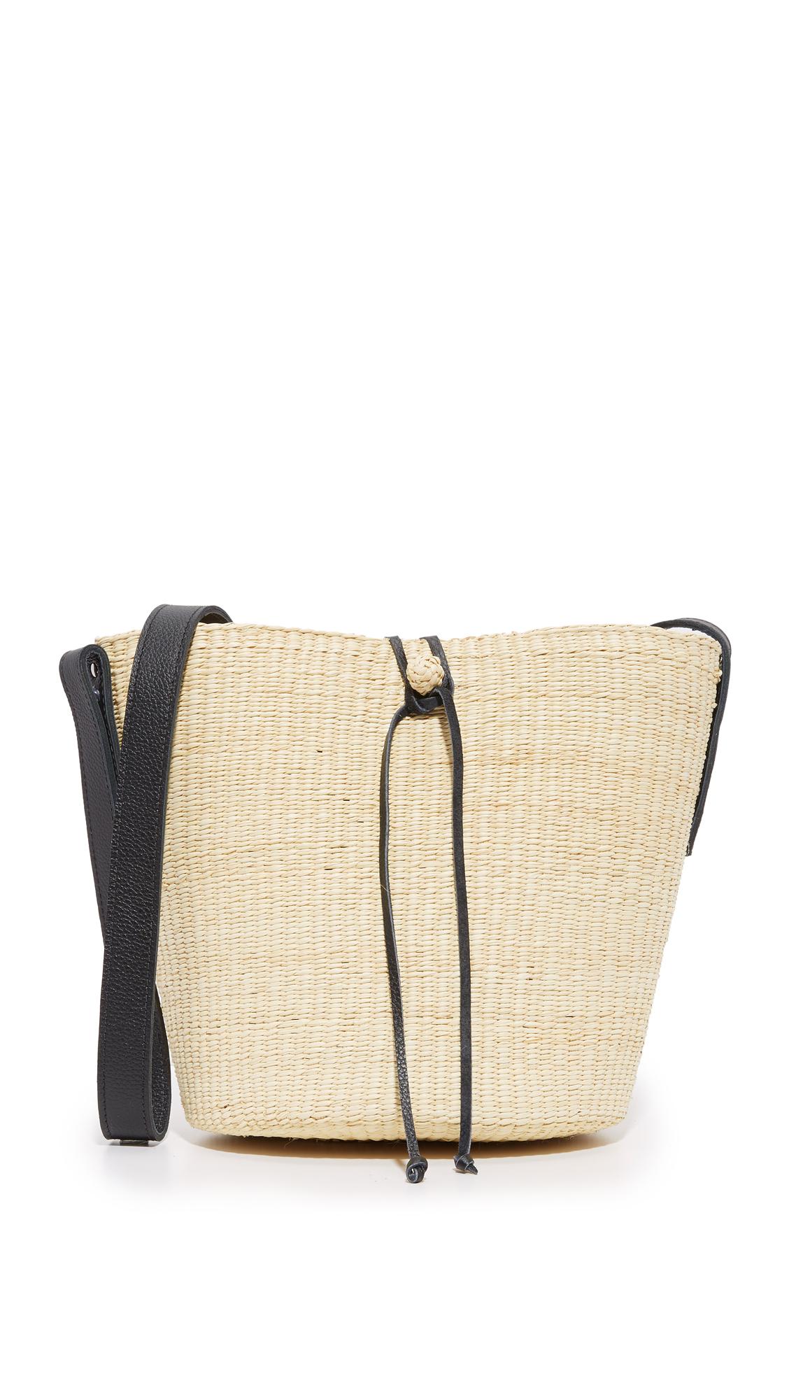 Sensi studio Cross Body Bucket Bag in Black | Lyst