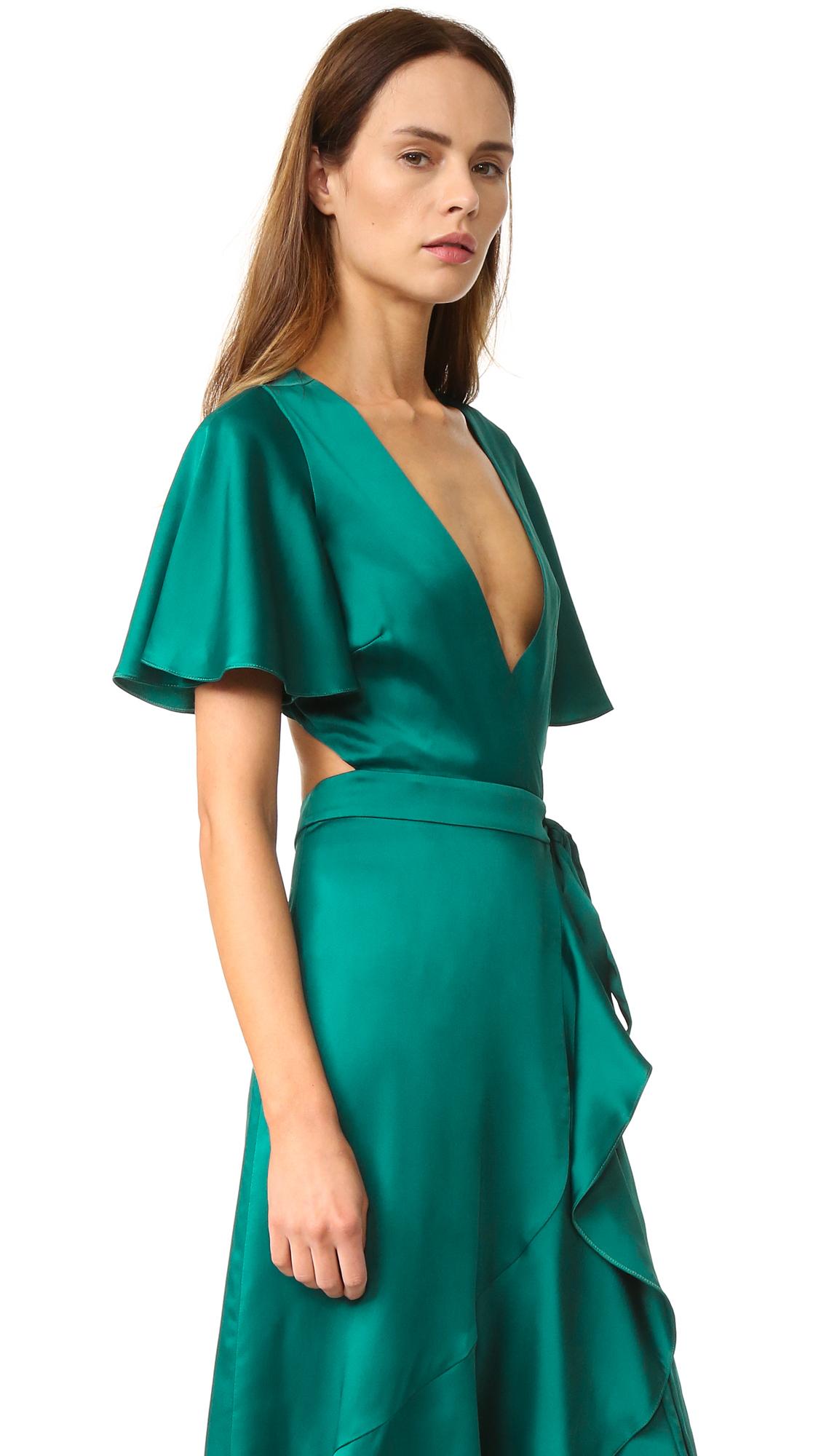 Lyst Temperley London Silk Satin Wrap Dress