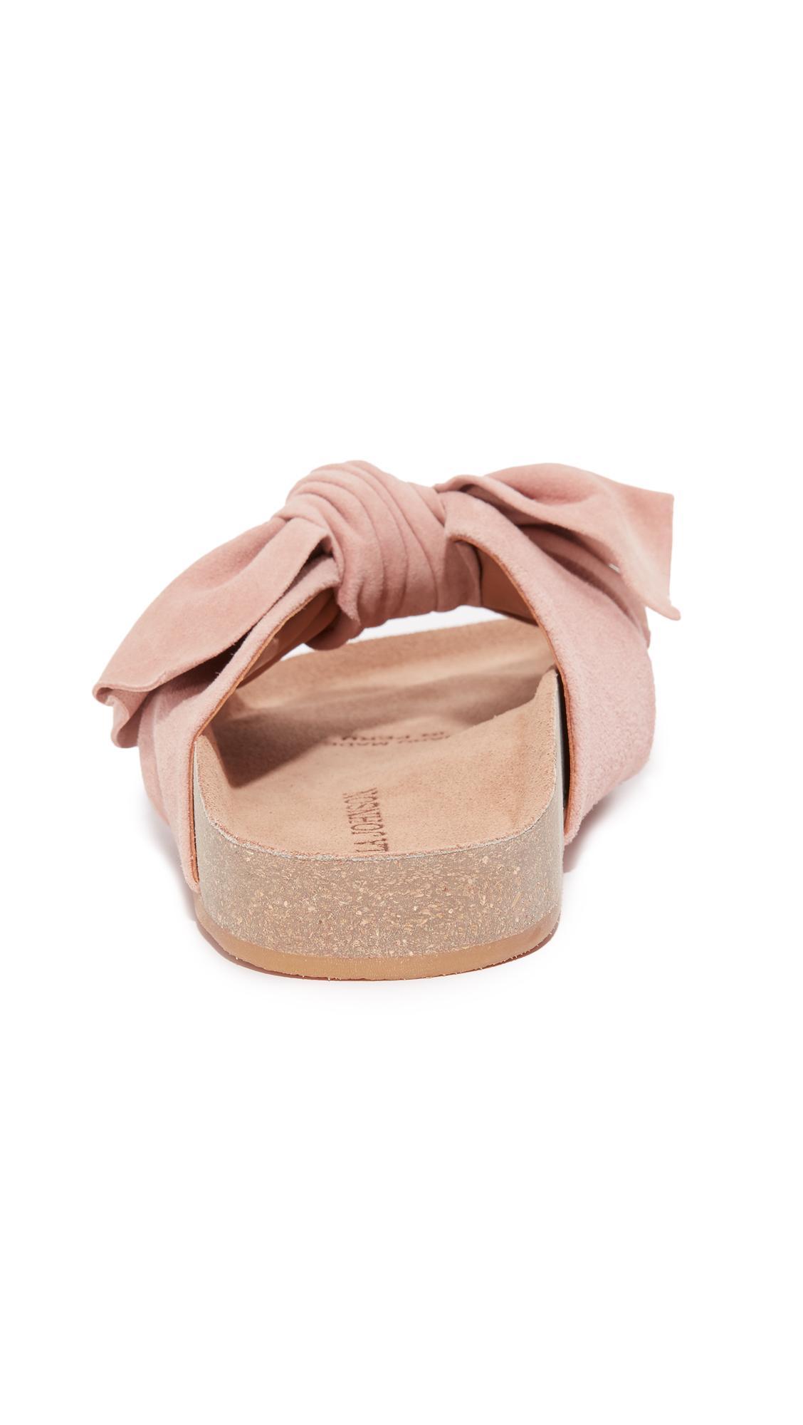 Lyst Ulla Johnson Ingrid Bow Slides In Pink