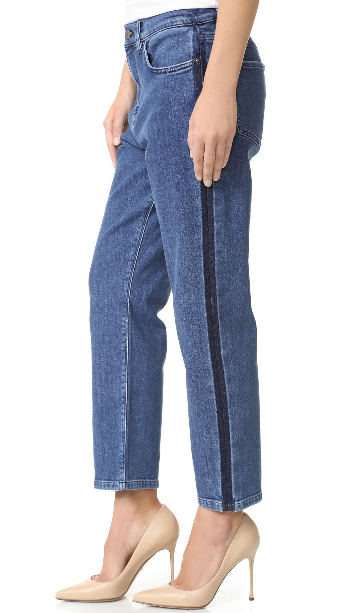 Victoria victoria beckham Cropped Boyfriend Jeans in Blue | Lyst