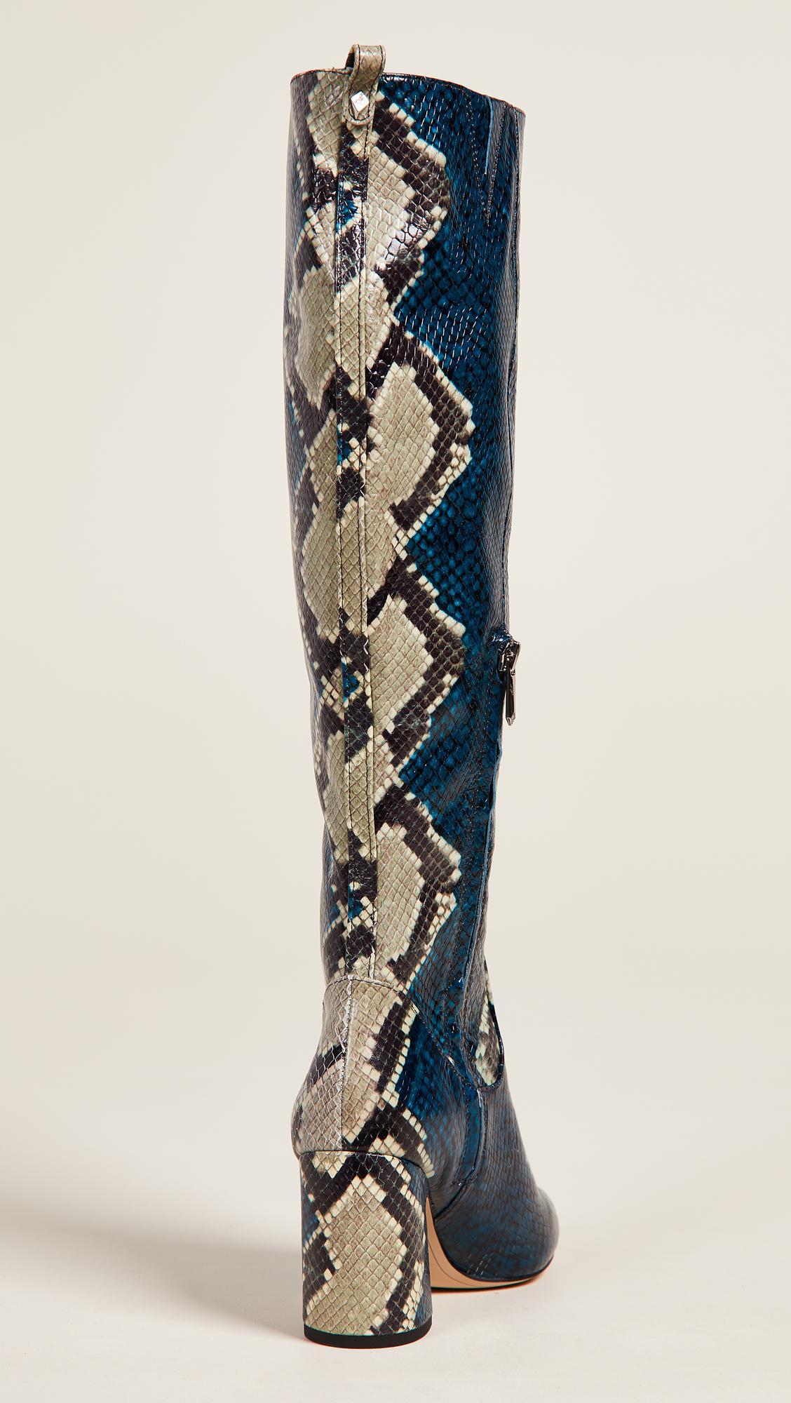 a5271ae2565 Sam Edelman Hai (peacock Blue Multi Serpent Snake Leather) Women s ...