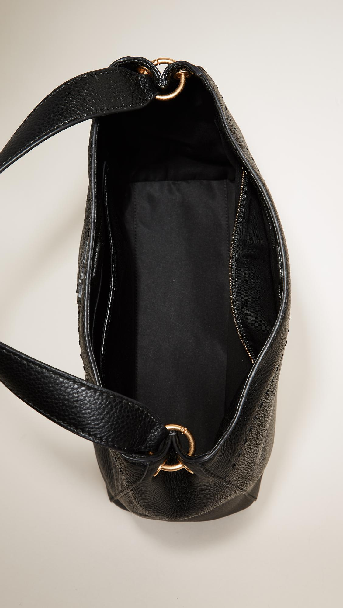 75a224de9a4 Lyst - Tory Burch Mcgraw Hobo Bag in Black