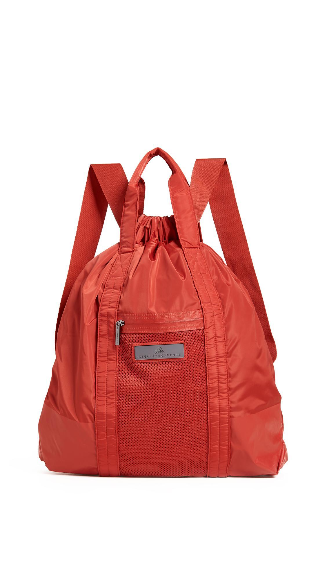 adidas By Stella McCartney Gym Sack Backpack in Red - Lyst 7b18465f78f40