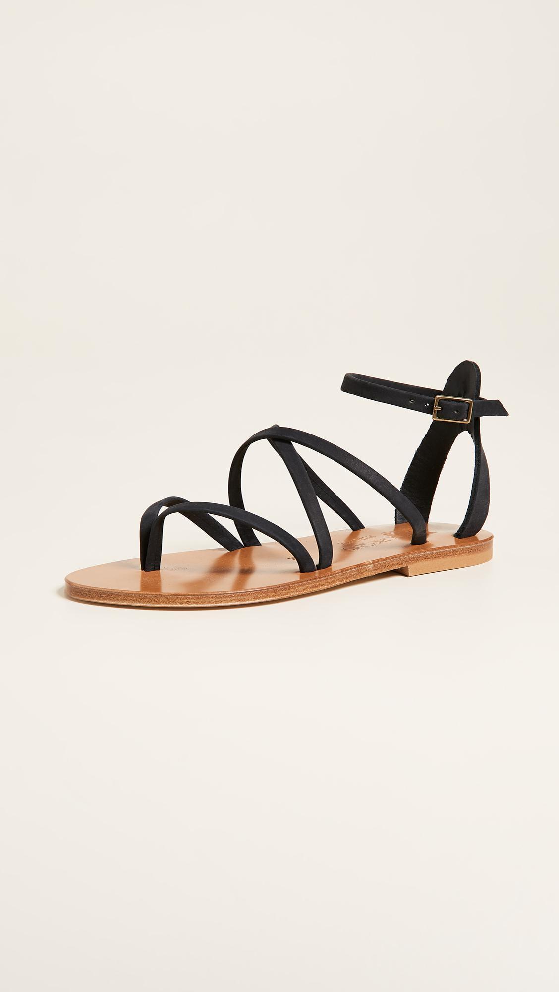 Womens Fusain Leather Sandals K.Jacques 0FUk7Q