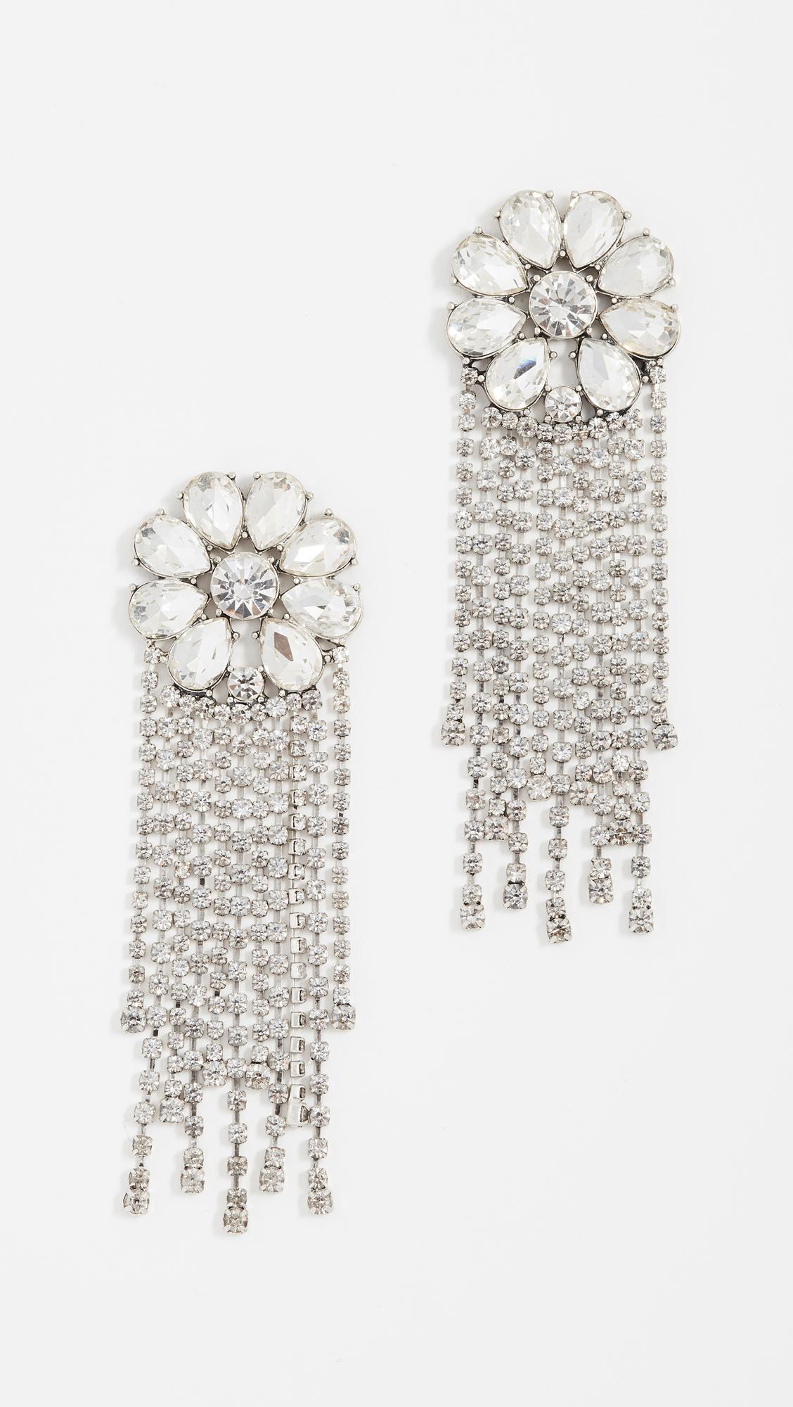 BaubleBar Floral Gem Chain Earrings FOx0Ck7