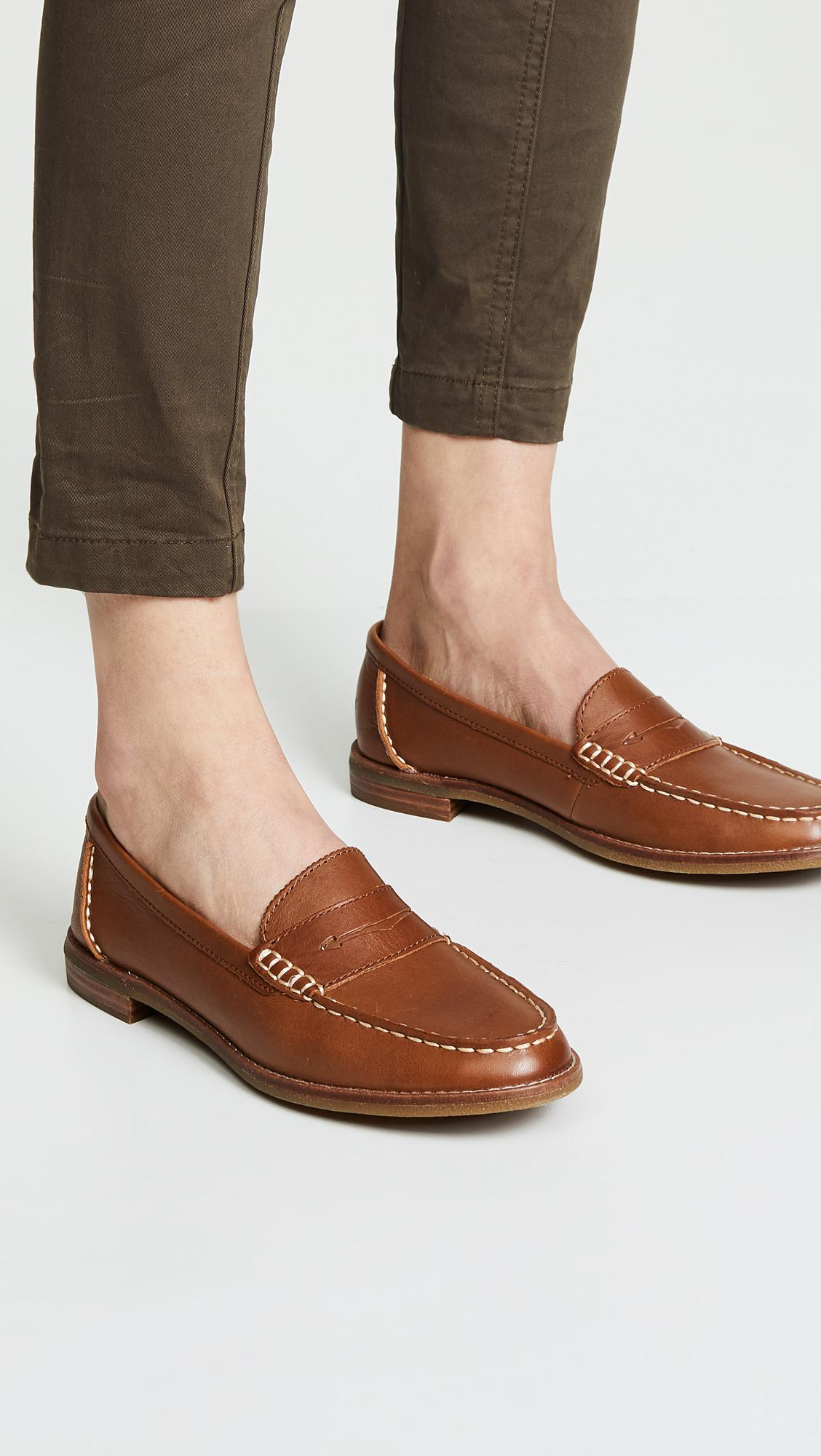 ee638f2cb3b Sperry Top-Sider - Brown Seaport Penny Loafer - Lyst. View fullscreen