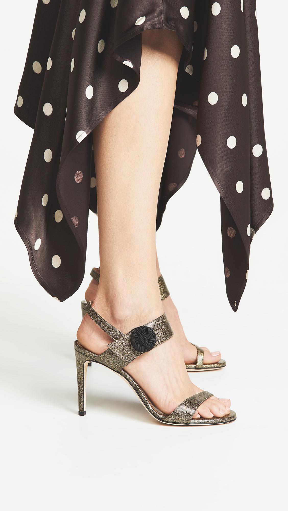 0ba489b5302e05 Chloe Gosselin - Metallic Tori 90 Sandals - Lyst. View fullscreen