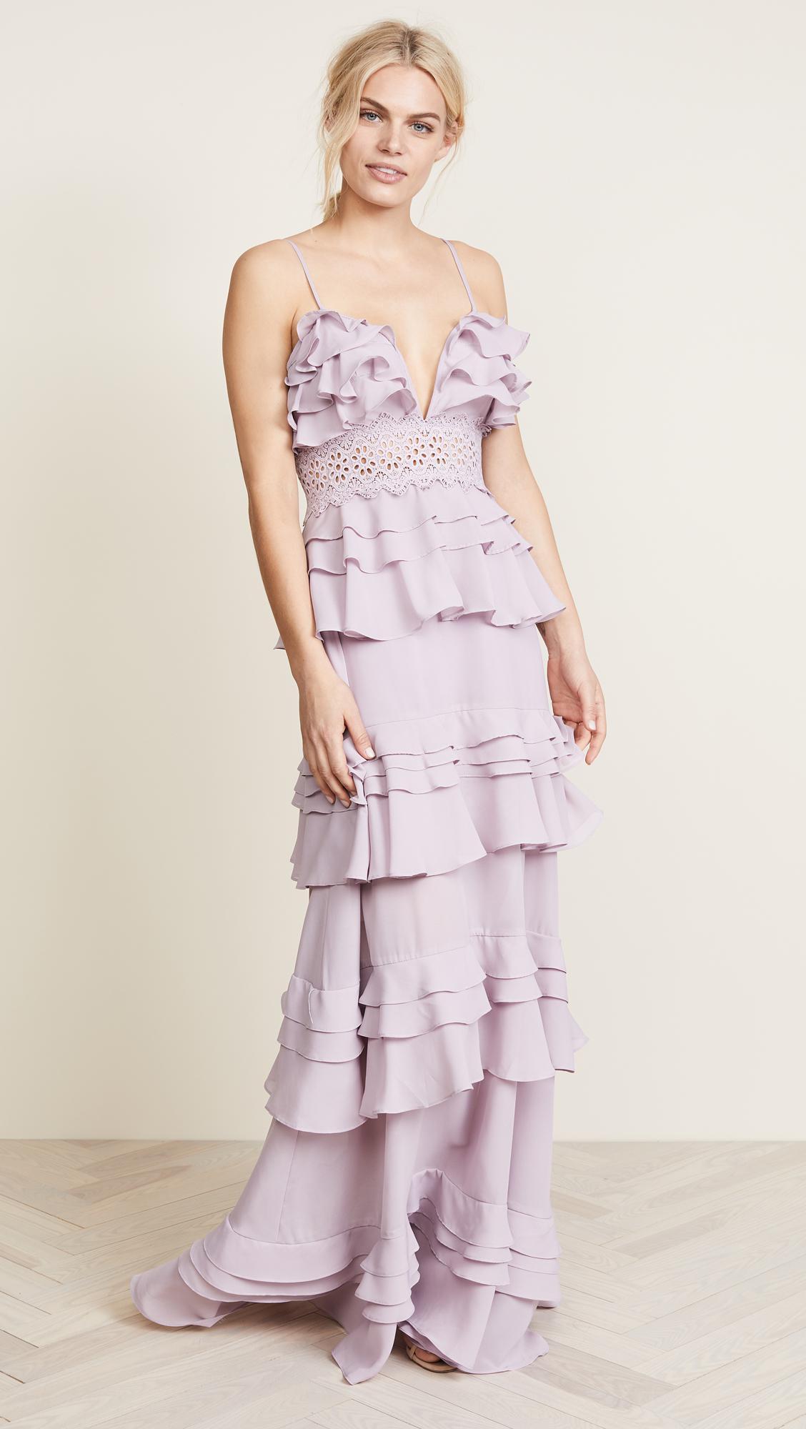 272f04081ab Glamorous True Decadence Ruffle Gown in Purple - Lyst