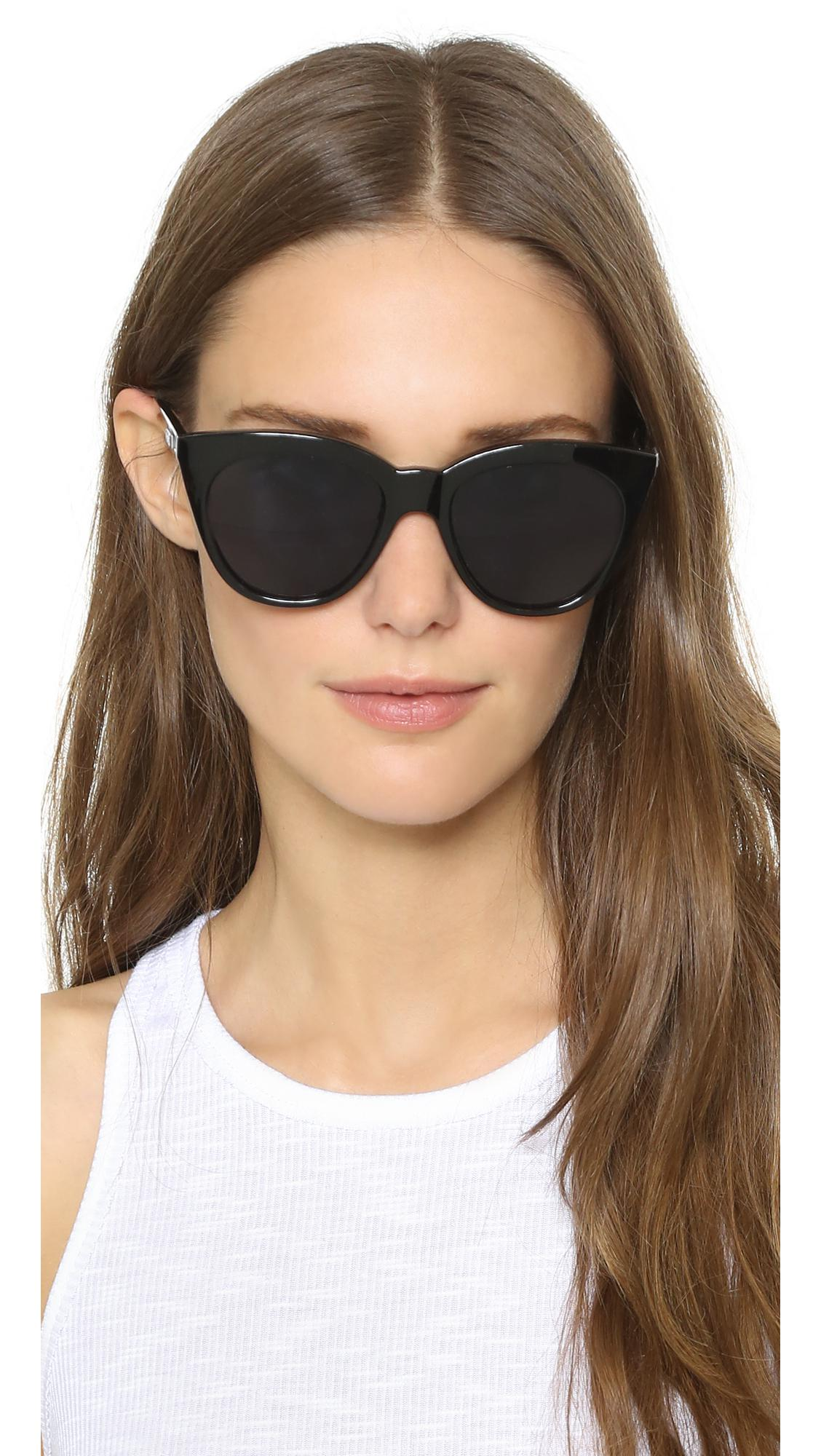 709afb5912 Le Specs - Black Half Moon Magic Sunglasses - Lyst. View fullscreen