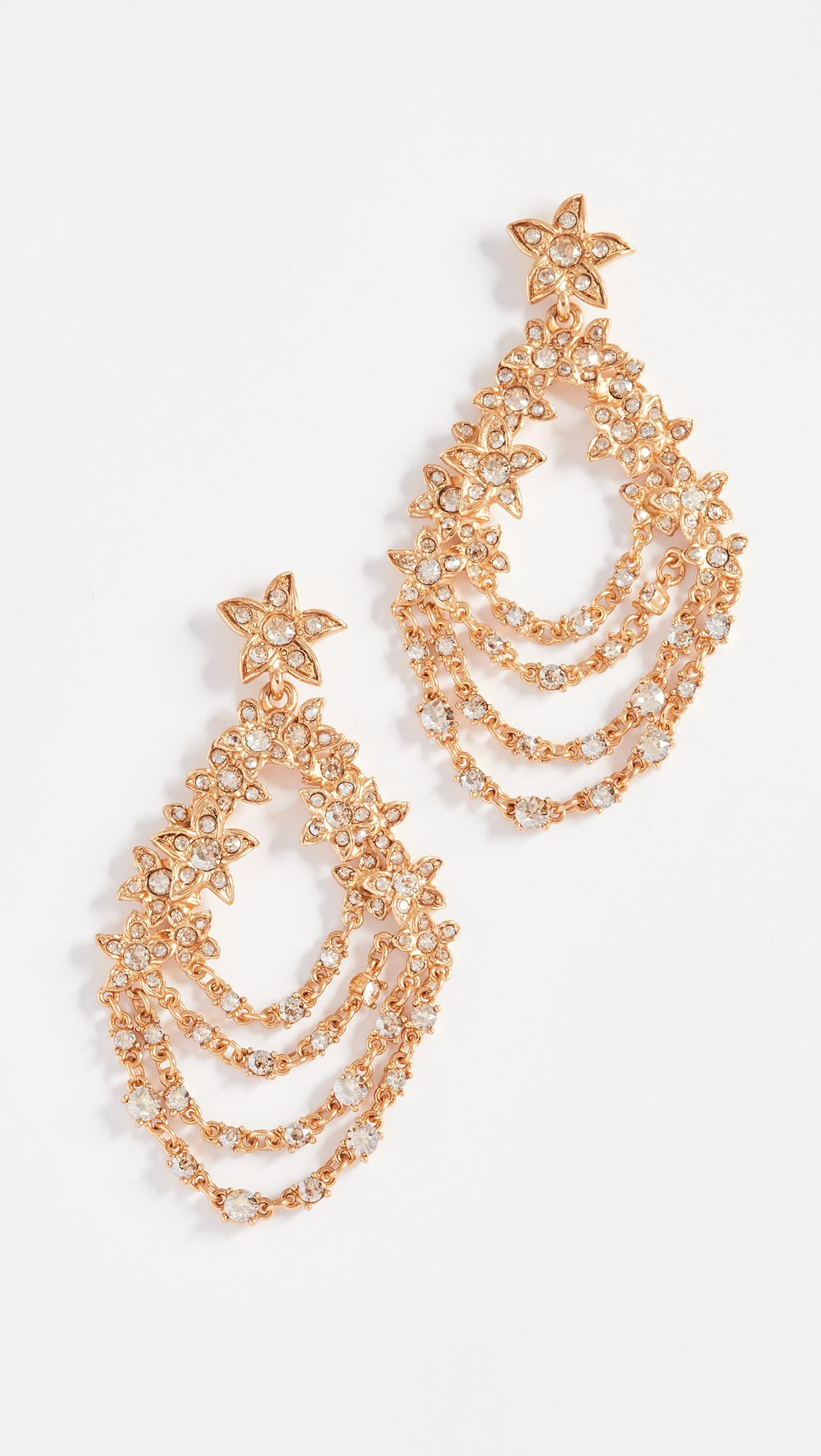 Oscar De La Renta Fish crystal-embellished earrings MkAiEzh
