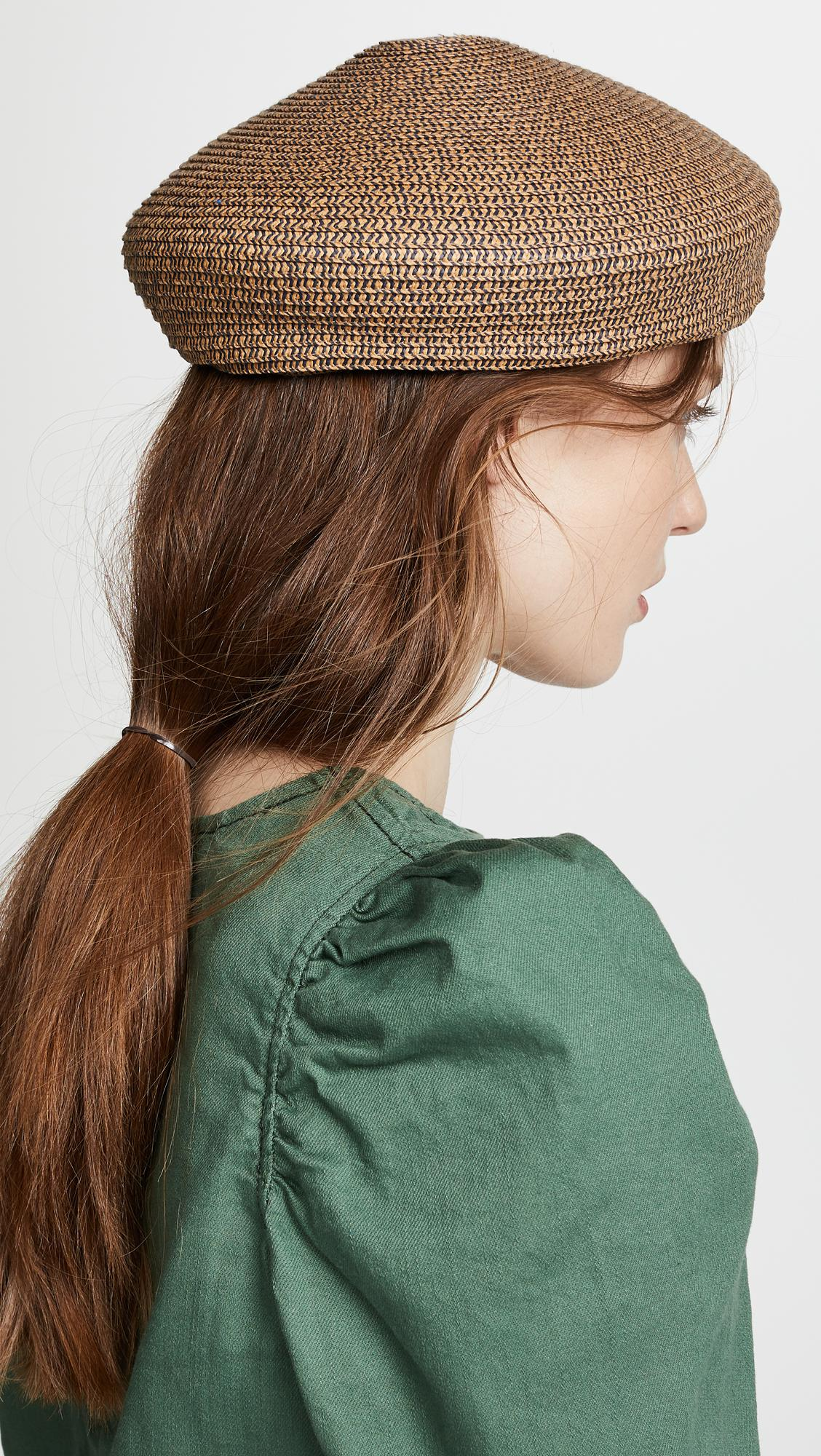 Lyst - Brixton Audrey Beret Hat in Green 409f32eccd61