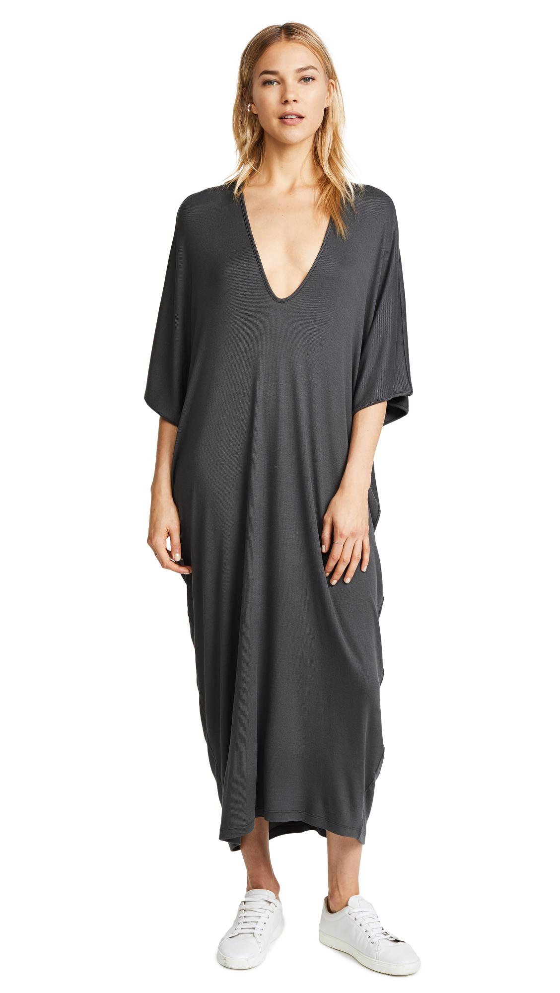 4ce0d65f551 Riller   Fount Luca Ribbed Maxi Caftan Dress in Gray - Lyst