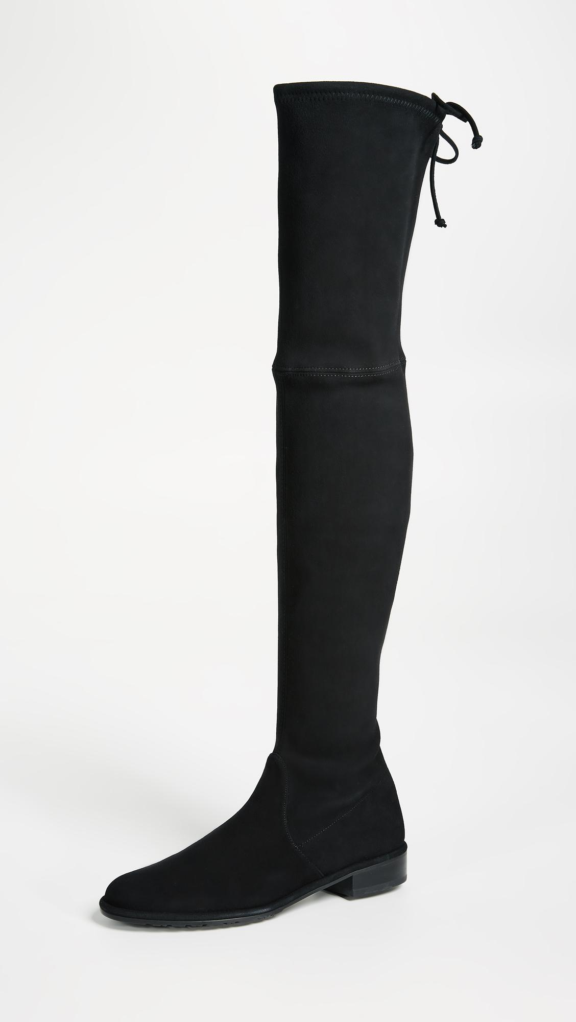 ad4820a540e Stuart Weitzman Lowland Over The Knee Boots in Black - Lyst