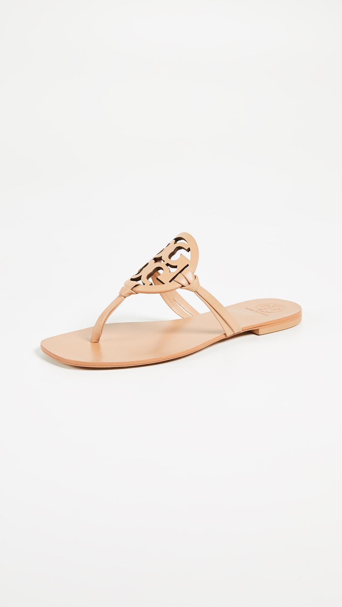31000e867 Lyst - Tory Burch Miller Thong Sandals in Natural
