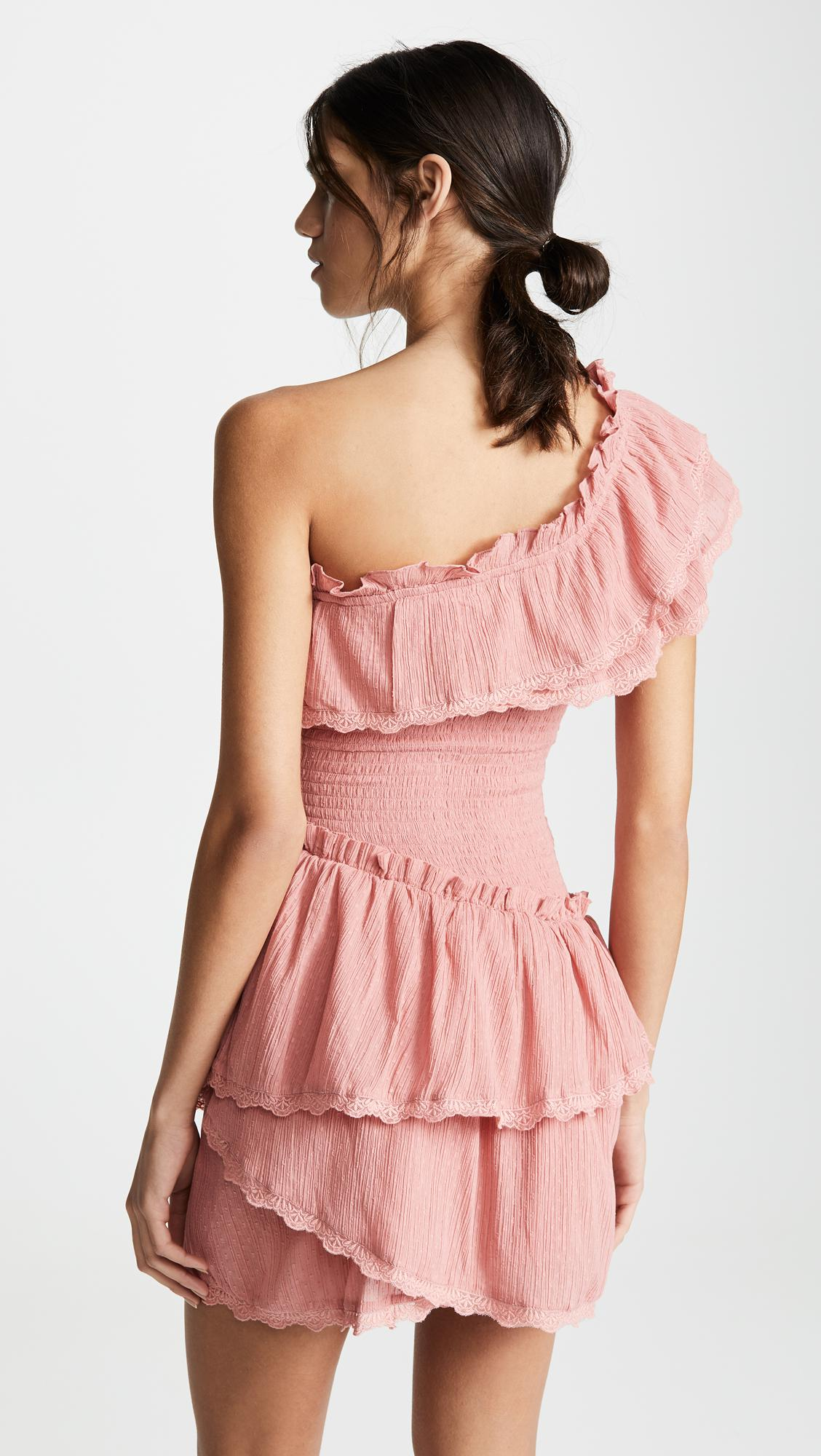 3bb656eaa91 Steele - Pink Melody Ruffle Dress - Lyst. View fullscreen