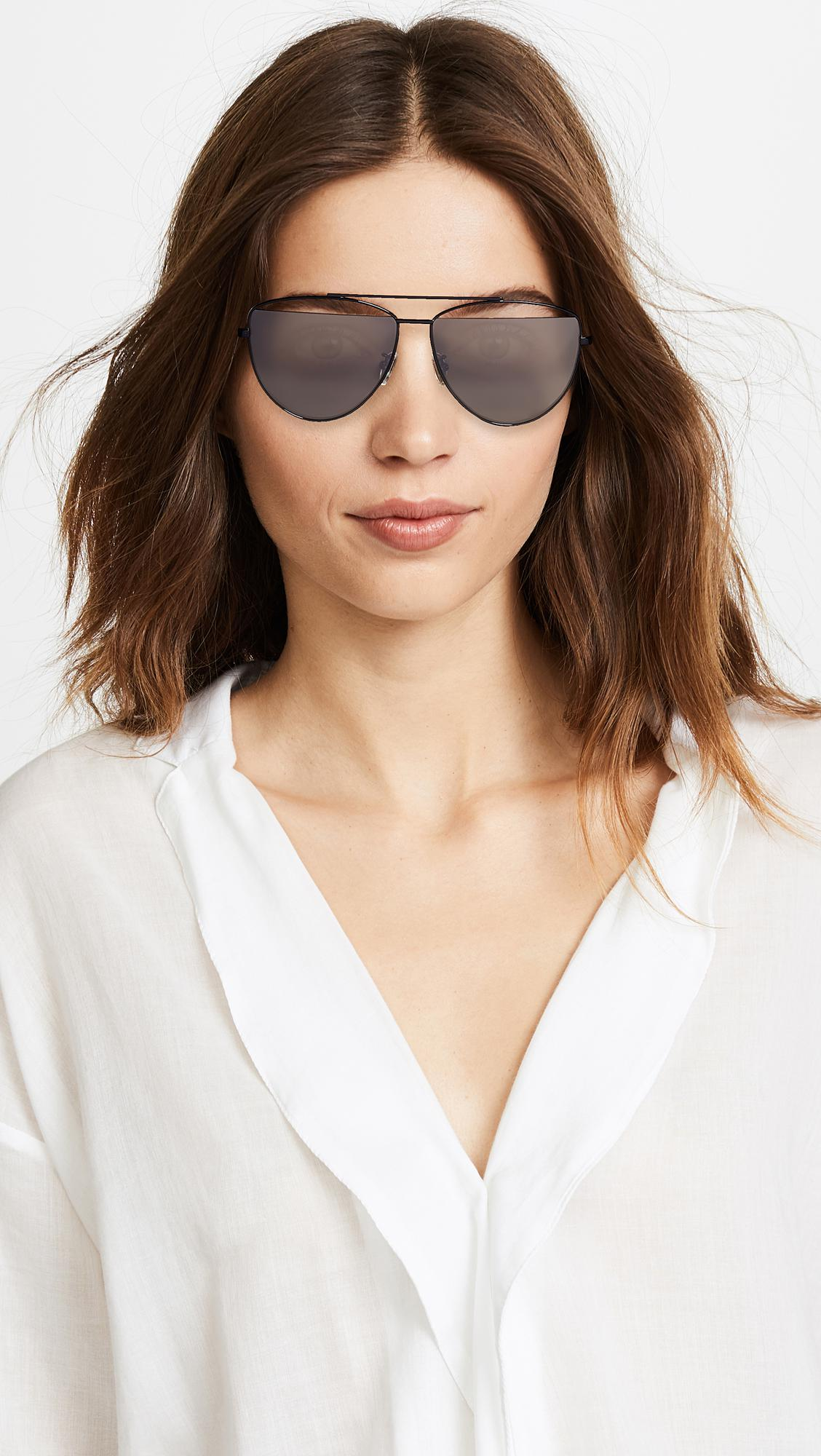 8be82d7565 McQ Alexander McQueen - Gray Iconic Pilot Frame Sunglasses - Lyst. View  fullscreen