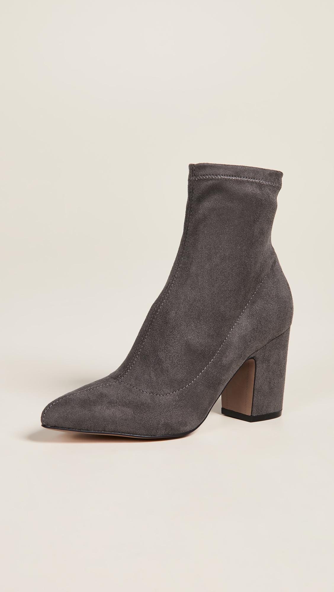 462f5d9660e4 Lyst steven steve madden leandra block heel ankle booties in gray jpg  1128x2000 Steve madden chunky
