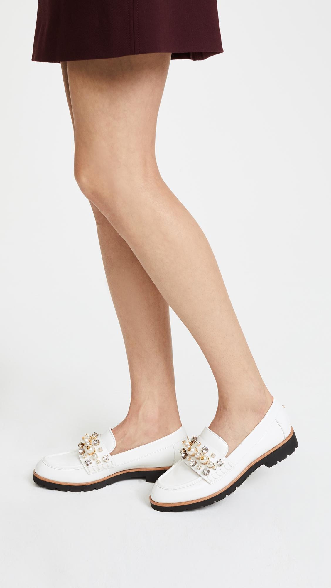 465c1ac2e09 Lyst - Kate Spade Karry Too Studded Loafers in White