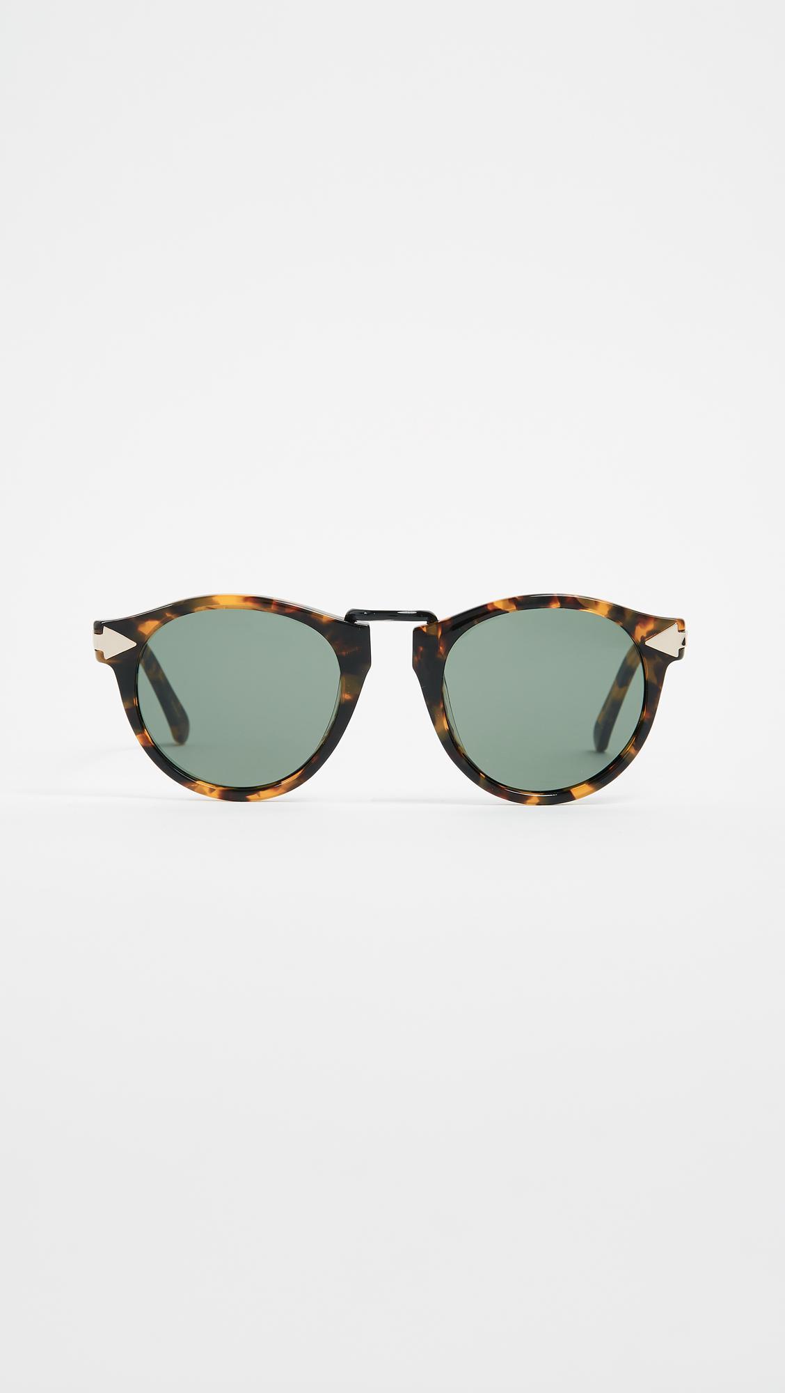 8b865392482 Karen Walker Helter Skelter Sunglasses in Brown - Lyst
