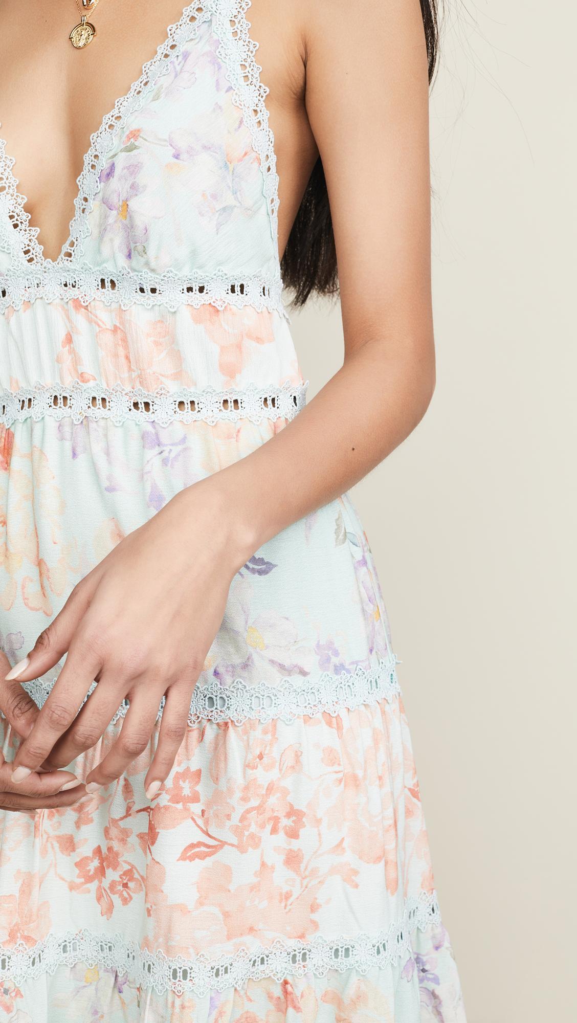 8121e98a2de1 Alice + Olivia - Multicolor Karolina Halter Mini Dress - Lyst. View  fullscreen