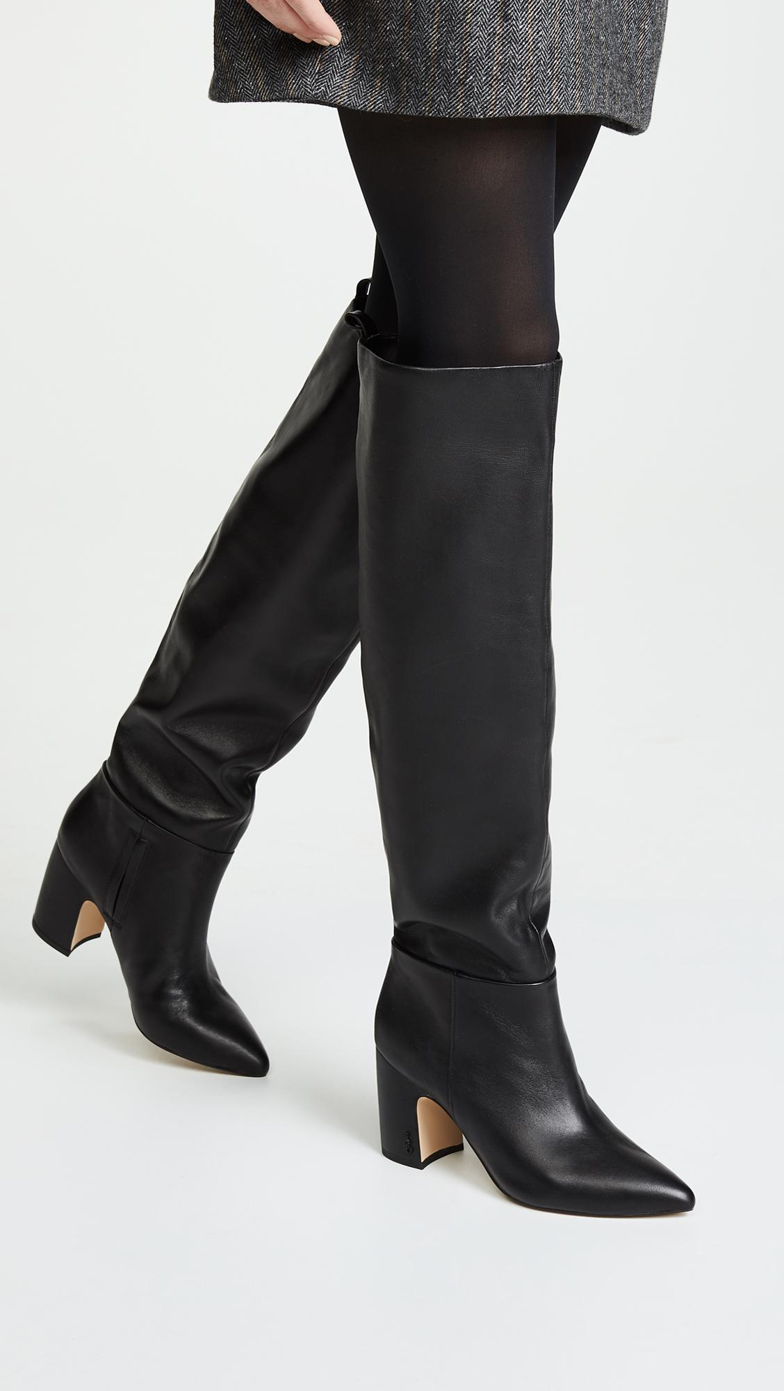eec60fcd7c43 Sam Edelman - Black Hutton Tall Boots - Lyst. View fullscreen