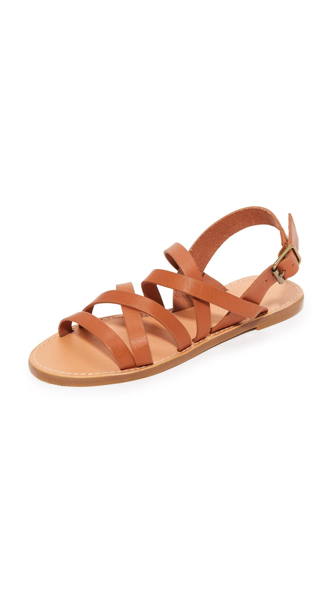 99922c1bb953d4 Lyst - Madewell Boardwalk Multi Strap Sandals in Brown